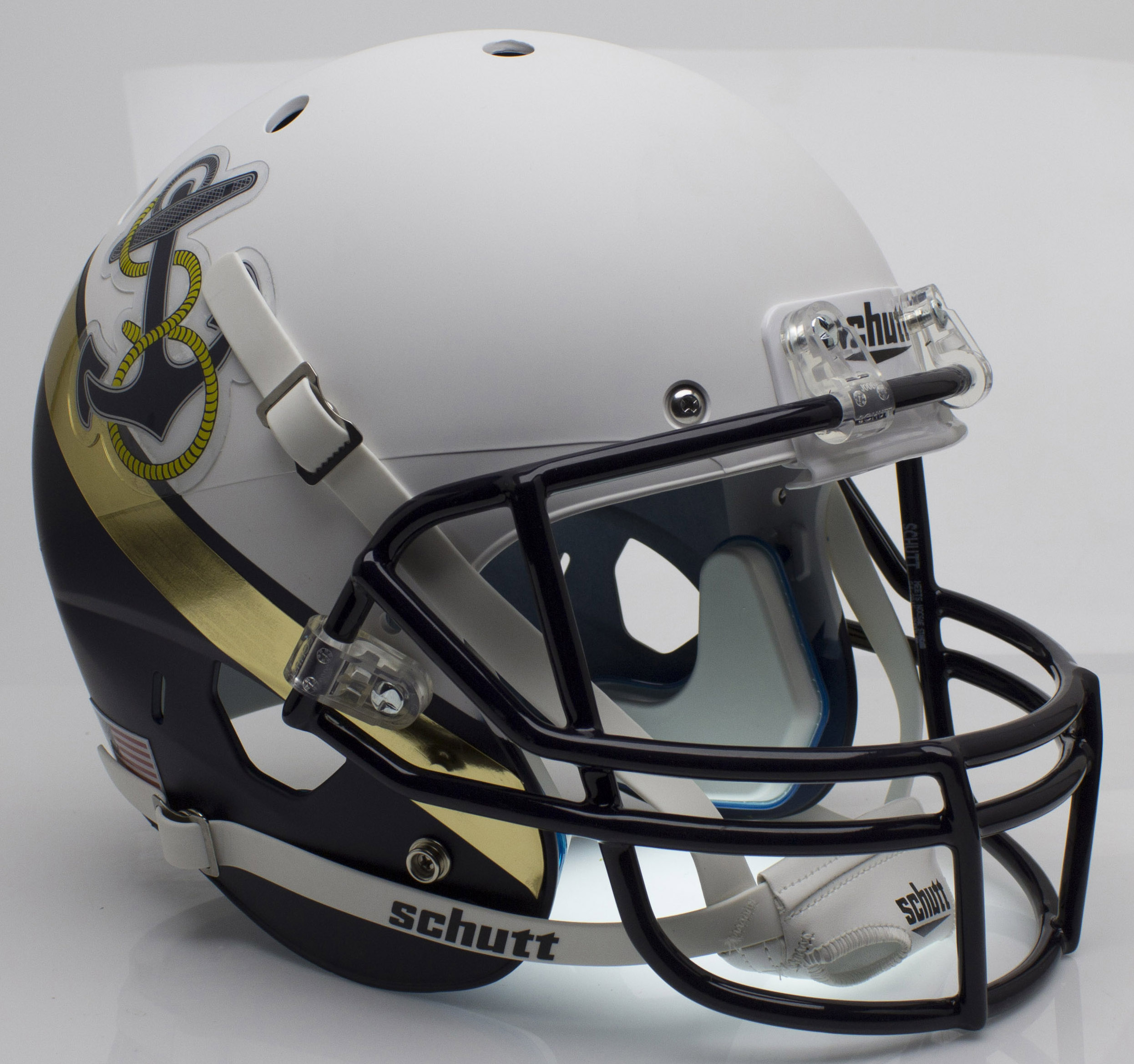 Navy Midshipmen Full XP Replica Football Helmet Schutt <B>2012 Special</B>