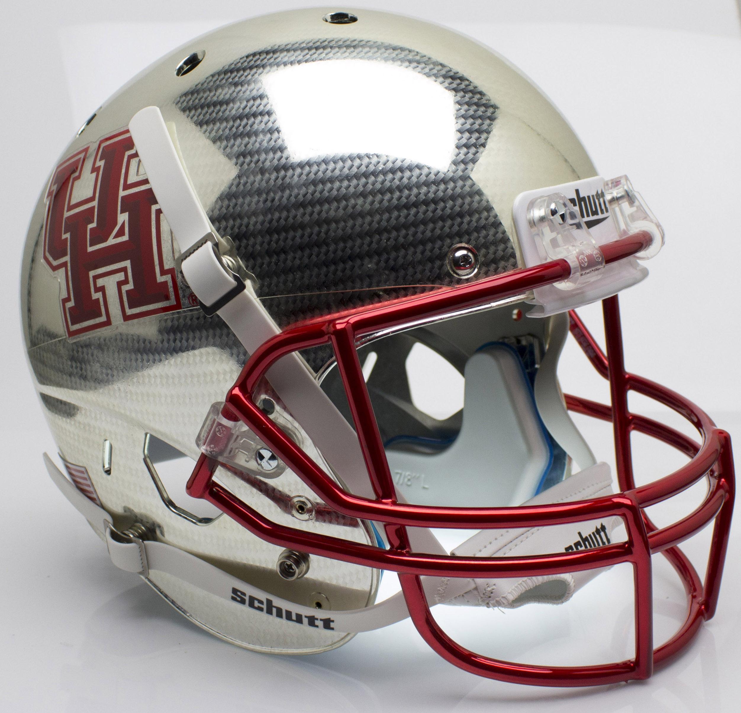 Houston Cougars Full XP Replica Football Helmet Schutt <B>Crosshatch</B>