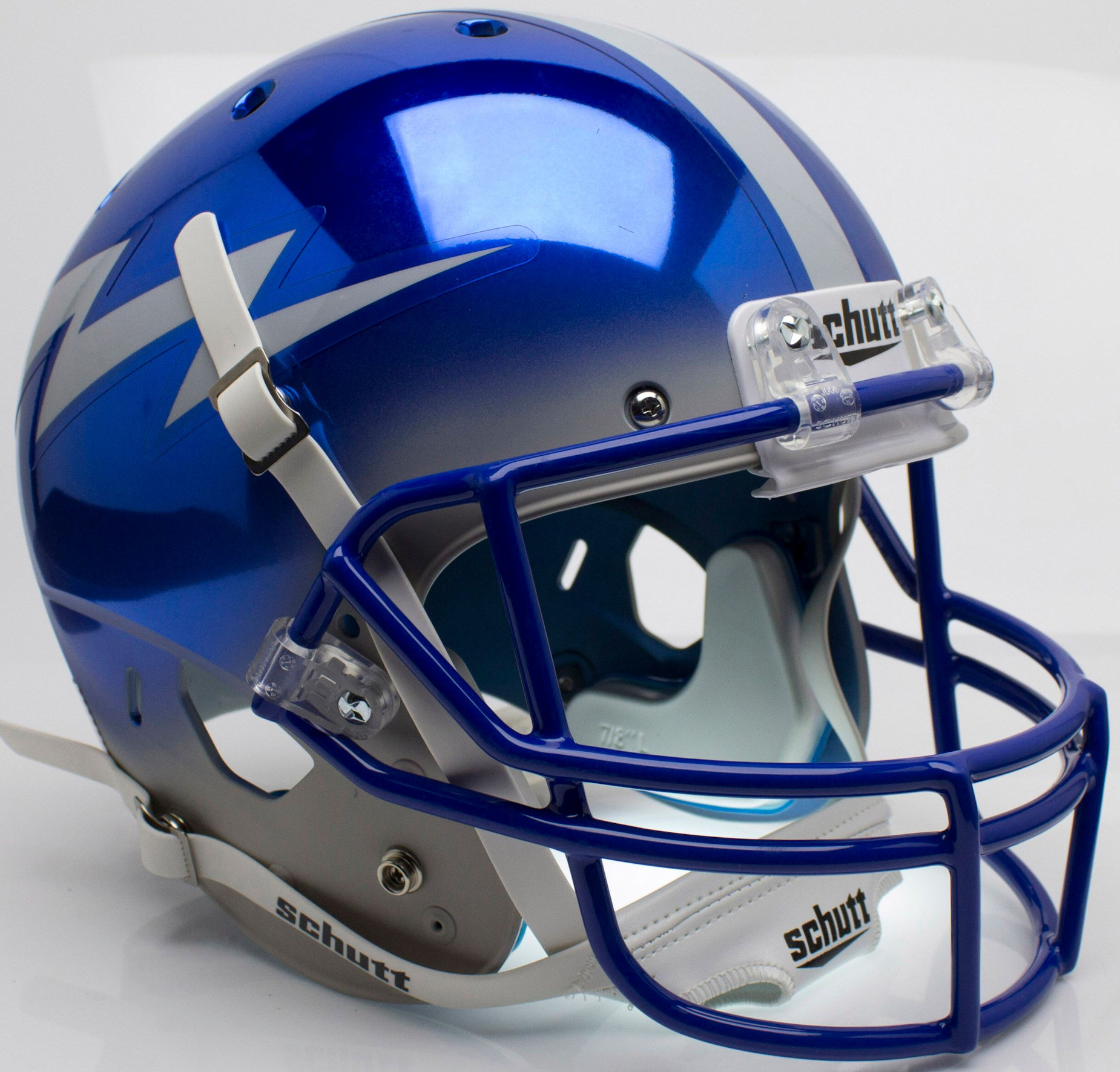 Air Force Falcons Full XP Replica Football Helmet Schutt <B>Chrome</B>