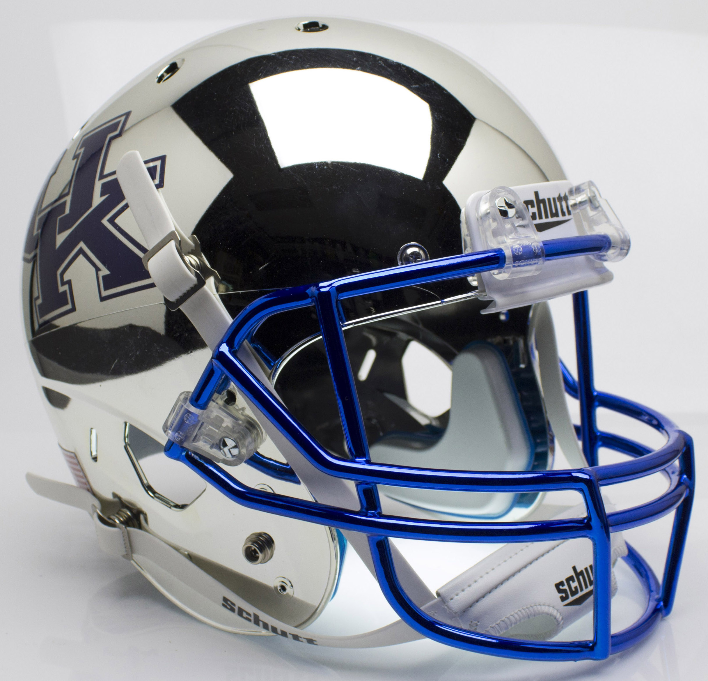 Kentucky Wildcats Full XP Replica Football Helmet Schutt <B>Chrome Silver</B>