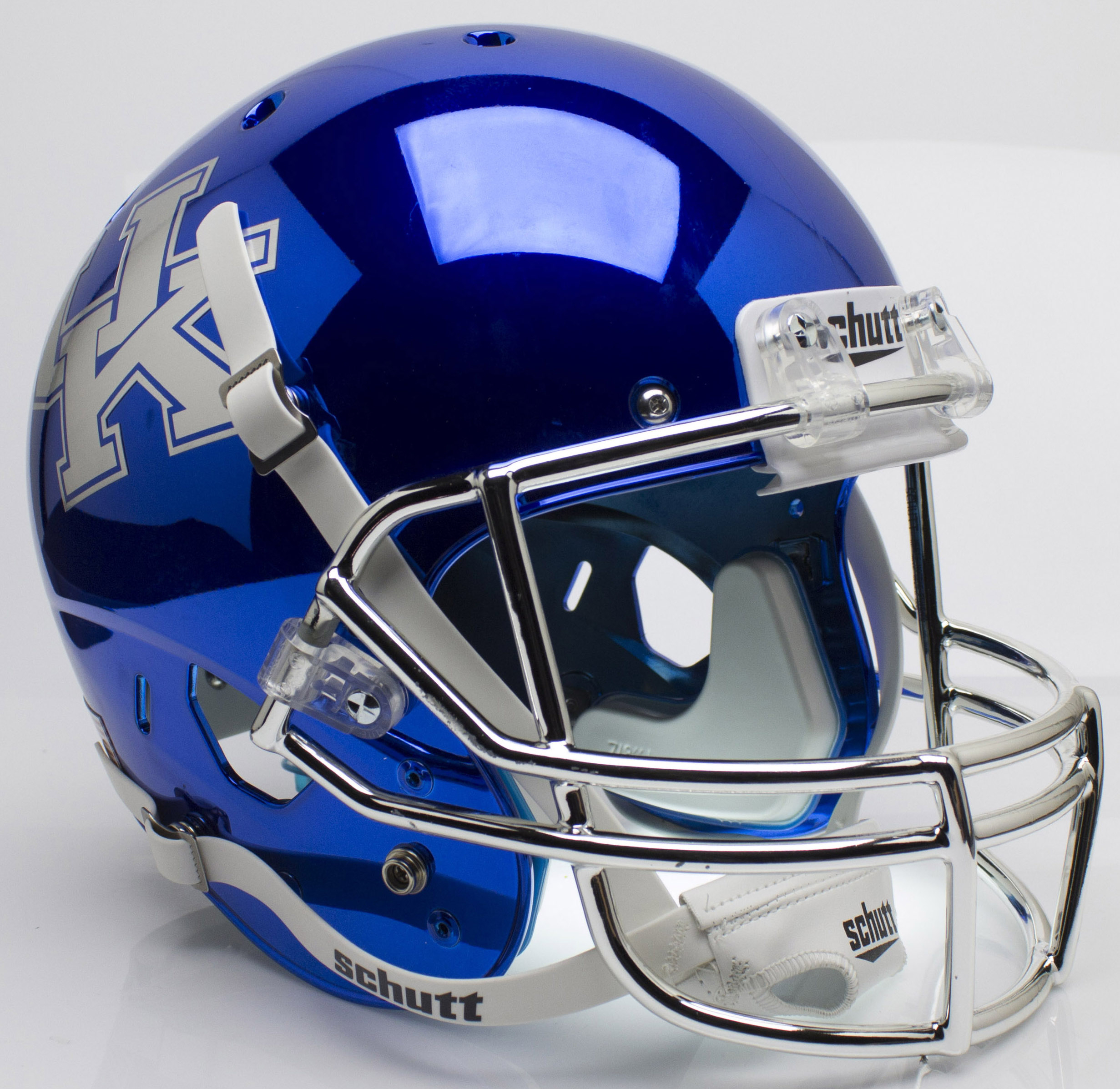Kentucky Wildcats Full XP Replica Football Helmet Schutt <B>Chrome Blue</B>