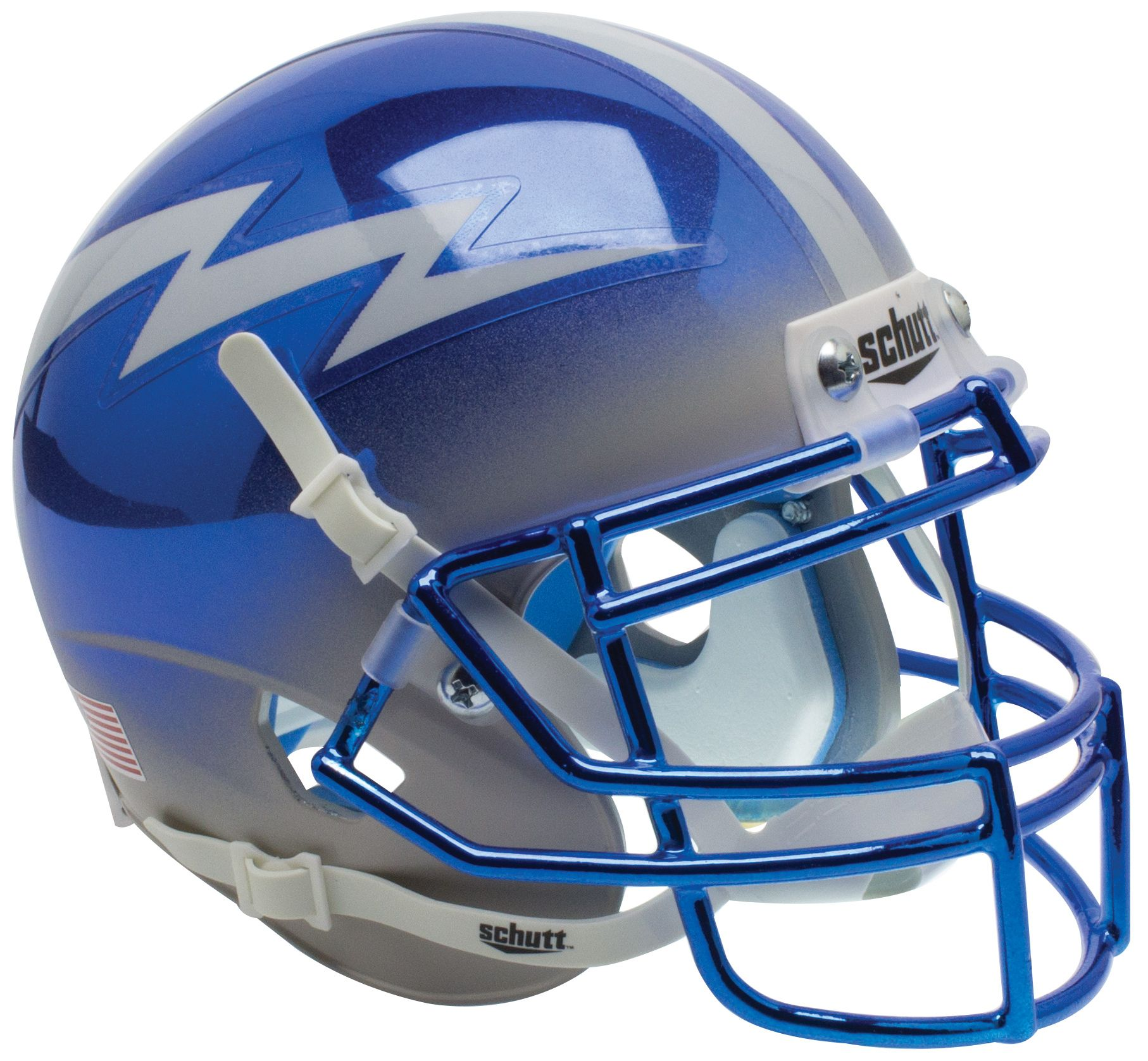 Air Force Falcons Mini XP Authentic Helmet Schutt <B>Blue Chrome</B>