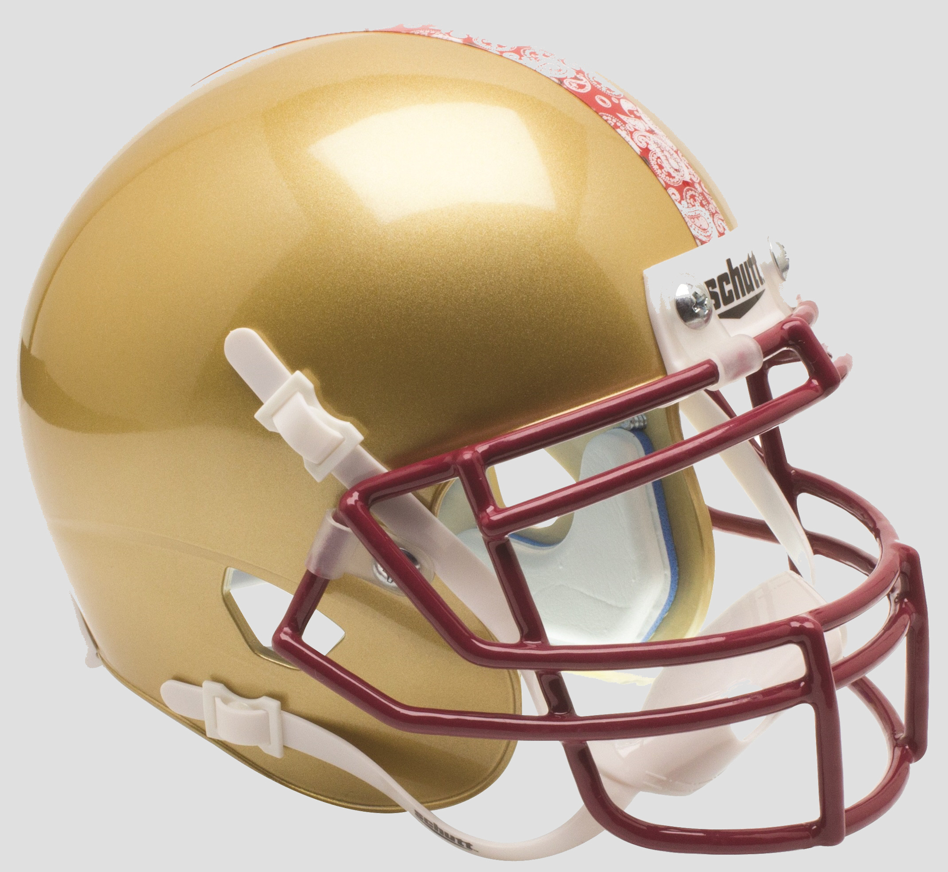 Boston College Eagles Mini XP Authentic Helmet Schutt <B>Gold</B>