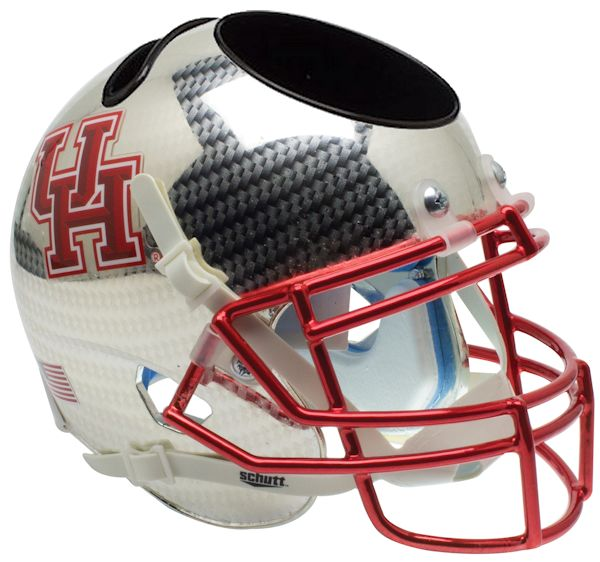 Houston Cougars Miniature Football Helmet Desk Caddy <B>Crosshatch</B>