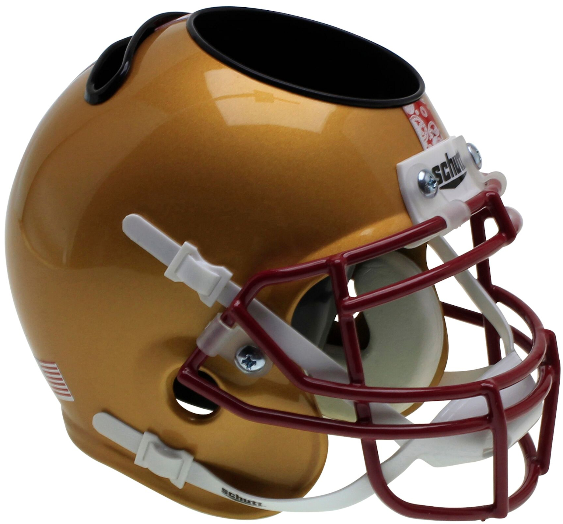 Boston College Eagles Miniature Football Helmet Desk Caddy <B>Gold</B>