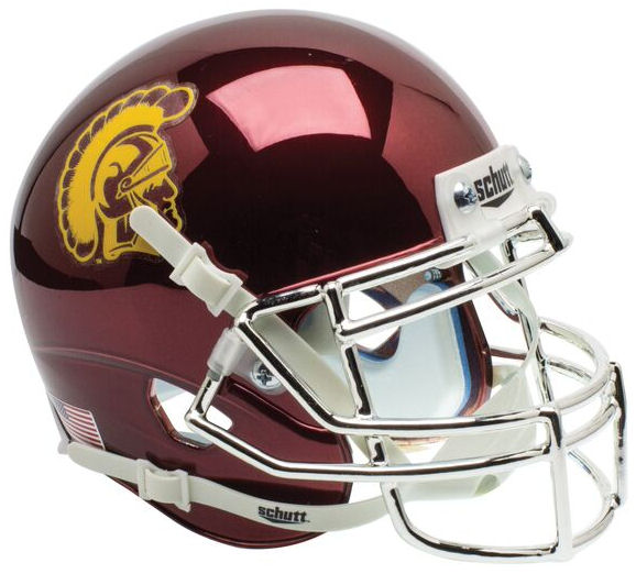 USC Trojans Mini XP Authentic Helmet Schutt <B>Chrome</B>