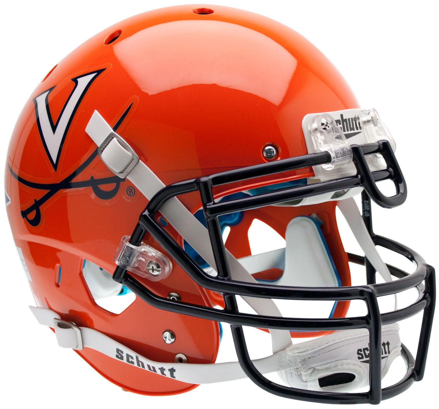 Virginia Cavaliers Authentic College XP Football Helmet Schutt <B>Orange</B>