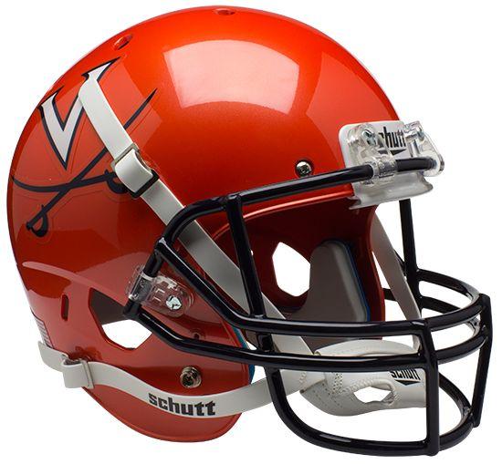 Virginia Cavaliers Full XP Replica Football Helmet Schutt <B>Orange</B>