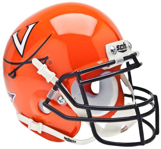 Virginia Cavaliers Mini XP Authentic Helmet Schutt <B>Orange</B>