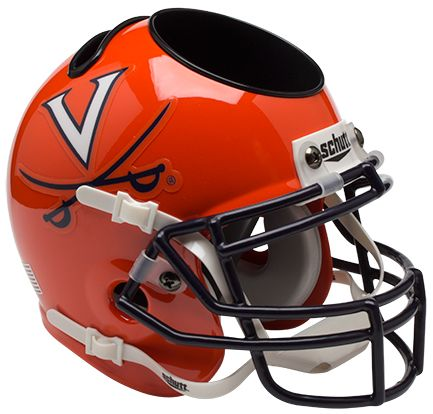 Virginia Cavaliers Miniature Football Helmet Desk Caddy <B>Orange</B>
