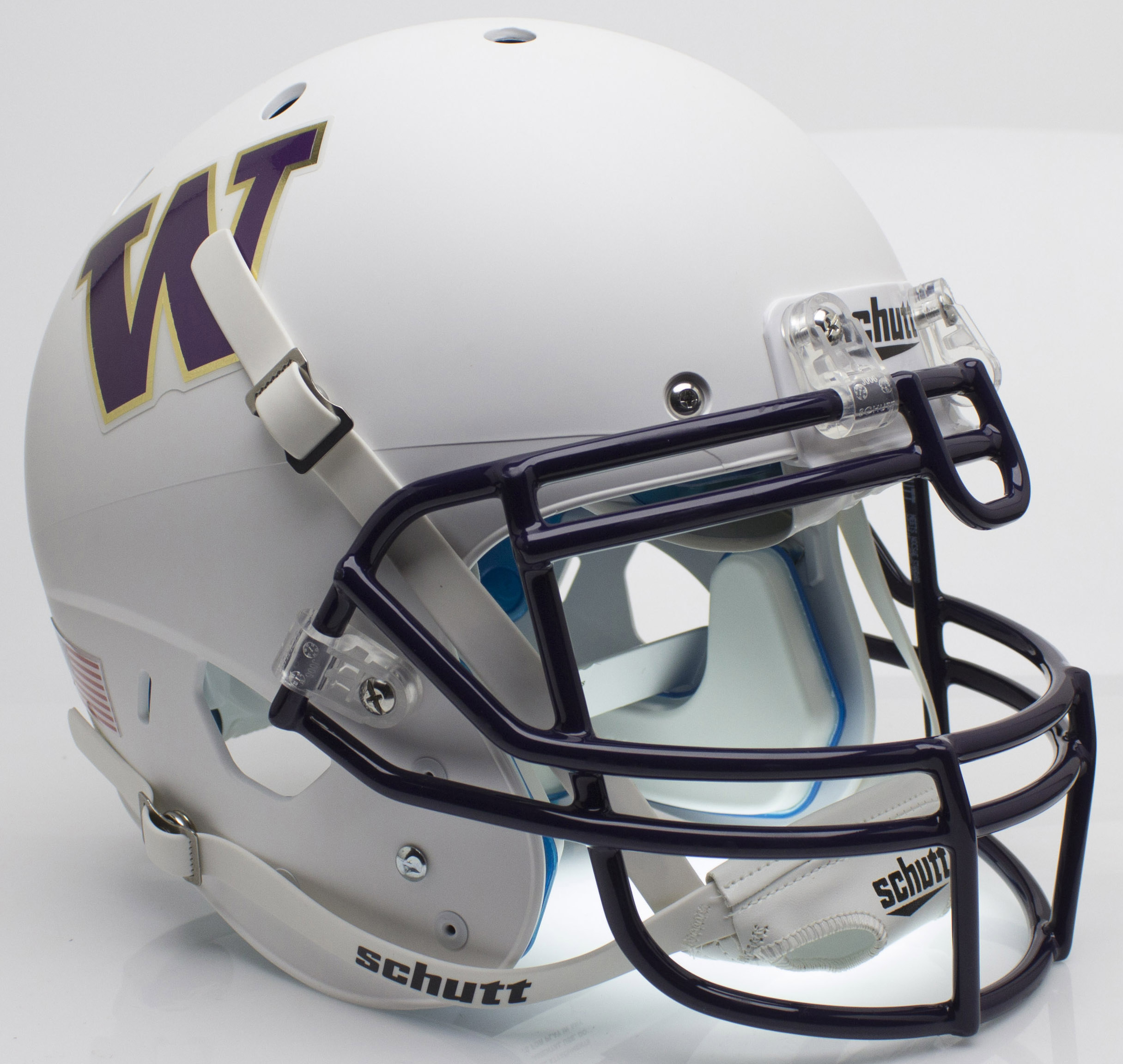 Washington Huskies Authentic College XP Football Helmet Schutt <B>Matte White</B>
