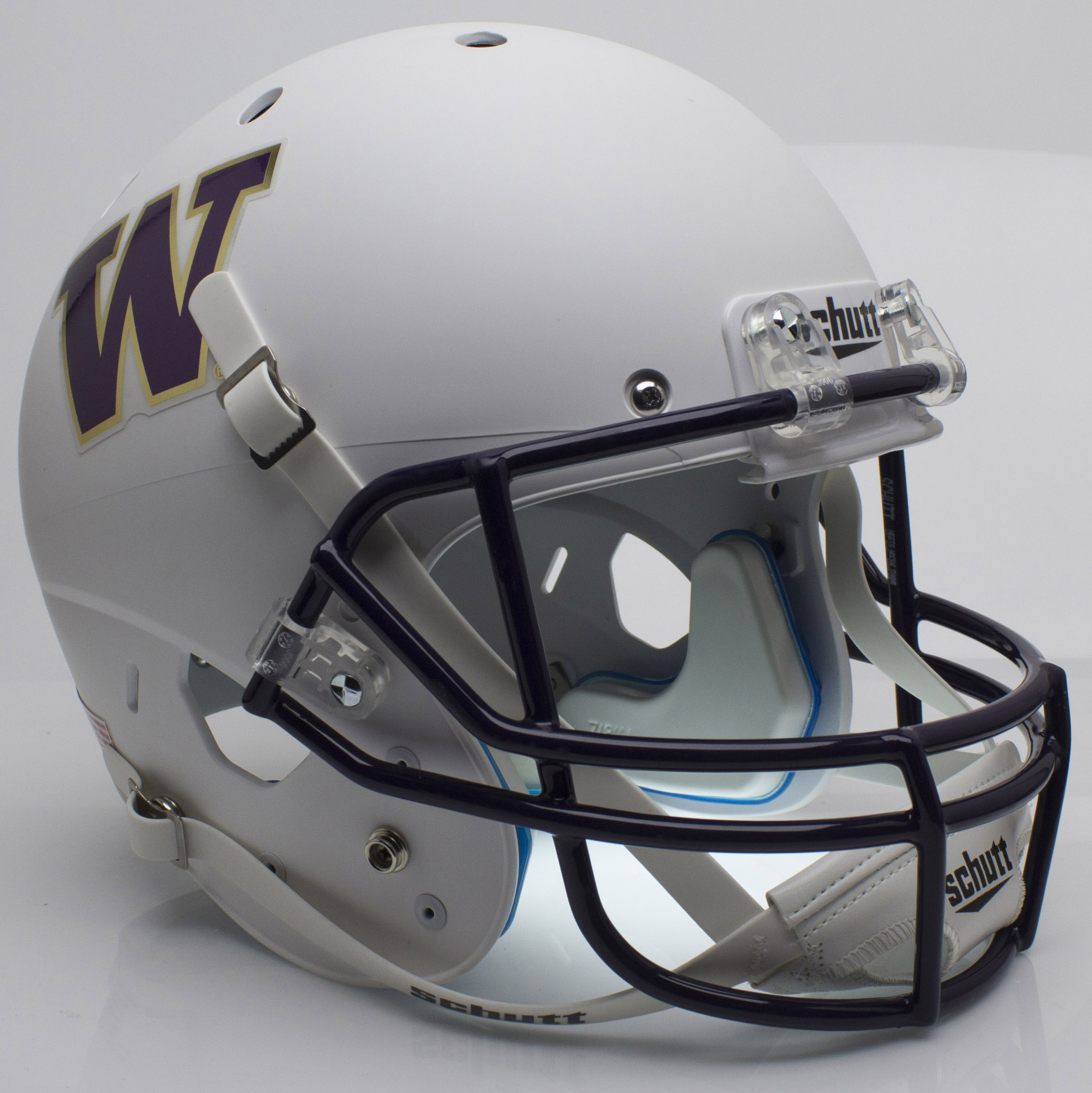 Washington Huskies Full XP Replica Football Helmet Schutt <B>Matte White</B>