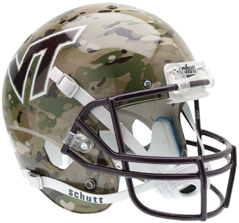 Virginia Tech Hokies Full XP Replica Football Helmet Schutt <B>Camo</B>
