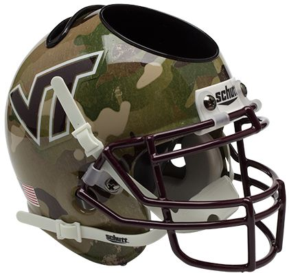 Virginia Tech Hokies Miniature Football Helmet Desk Caddy <B>Camo</B>