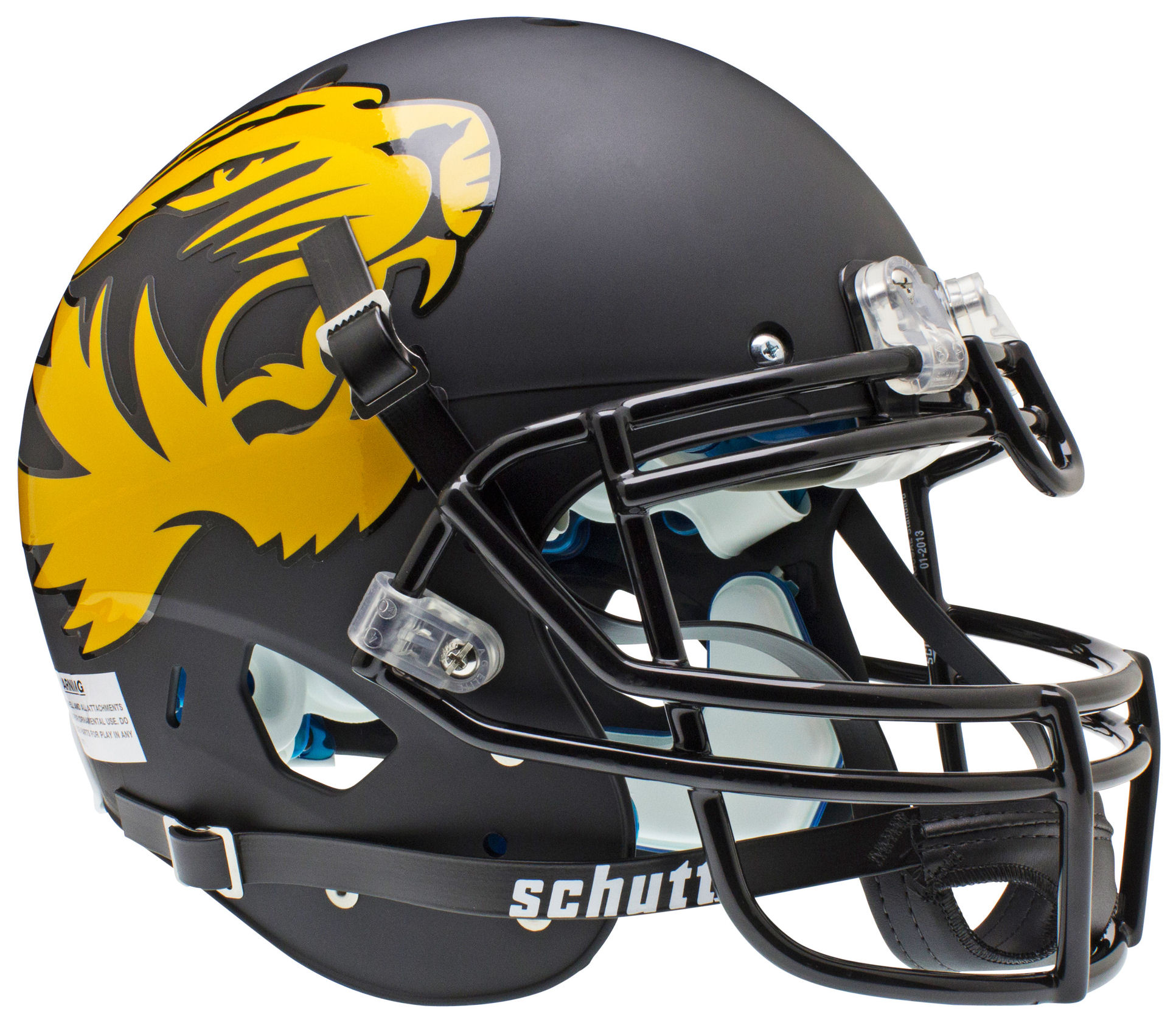 Missouri Tigers Authentic College XP Football Helmet Schutt <B>Matte Black Large Tiger</B>