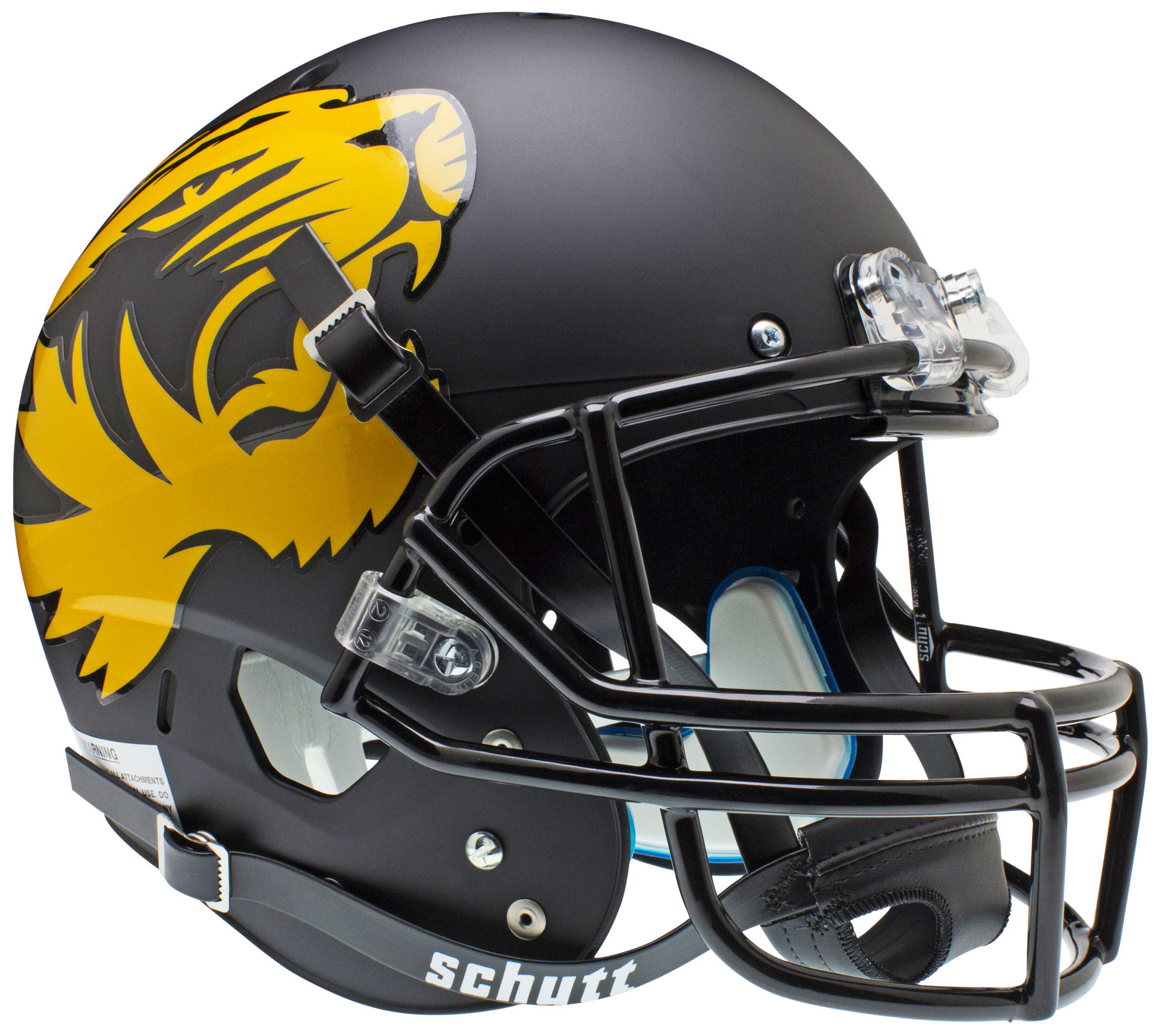Missouri Tigers Full XP Replica Football Helmet Schutt <B>Matte Black Alt</B>