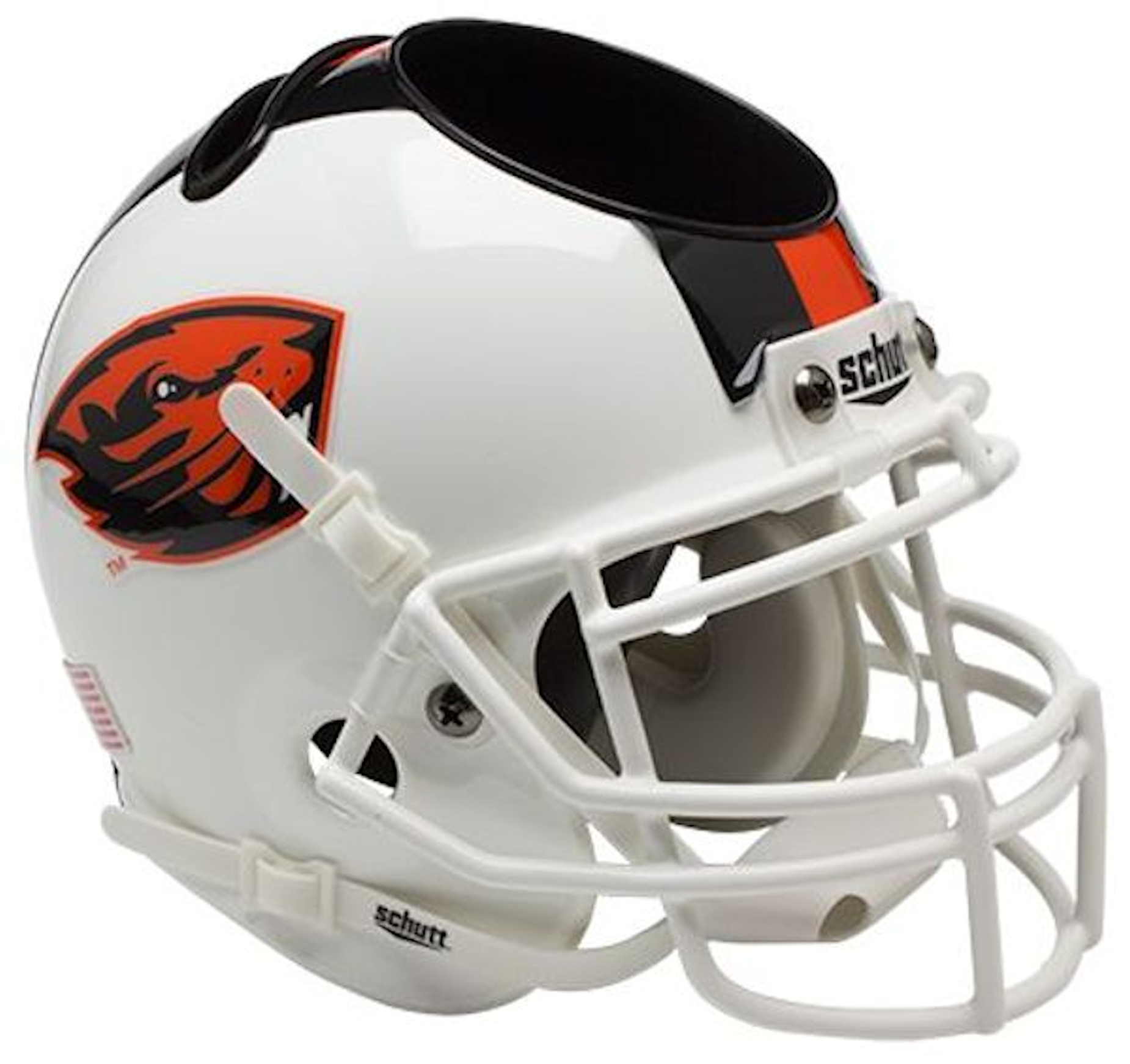 Oregon State Beavers Miniature Football Helmet Desk Caddy <B>White</B>