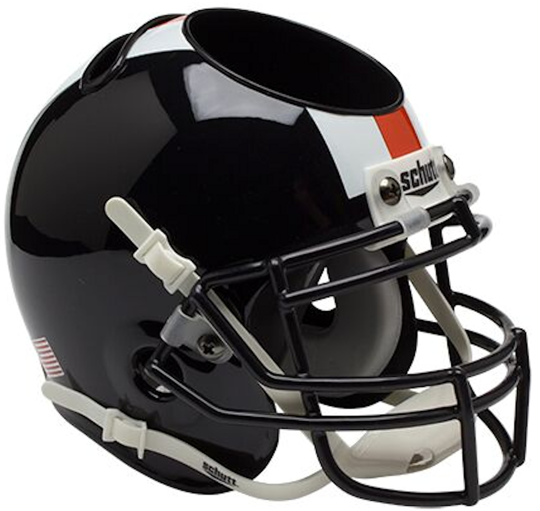 Oregon State Beavers Miniature Football Helmet Desk Caddy <B>Black w/stripes</B>