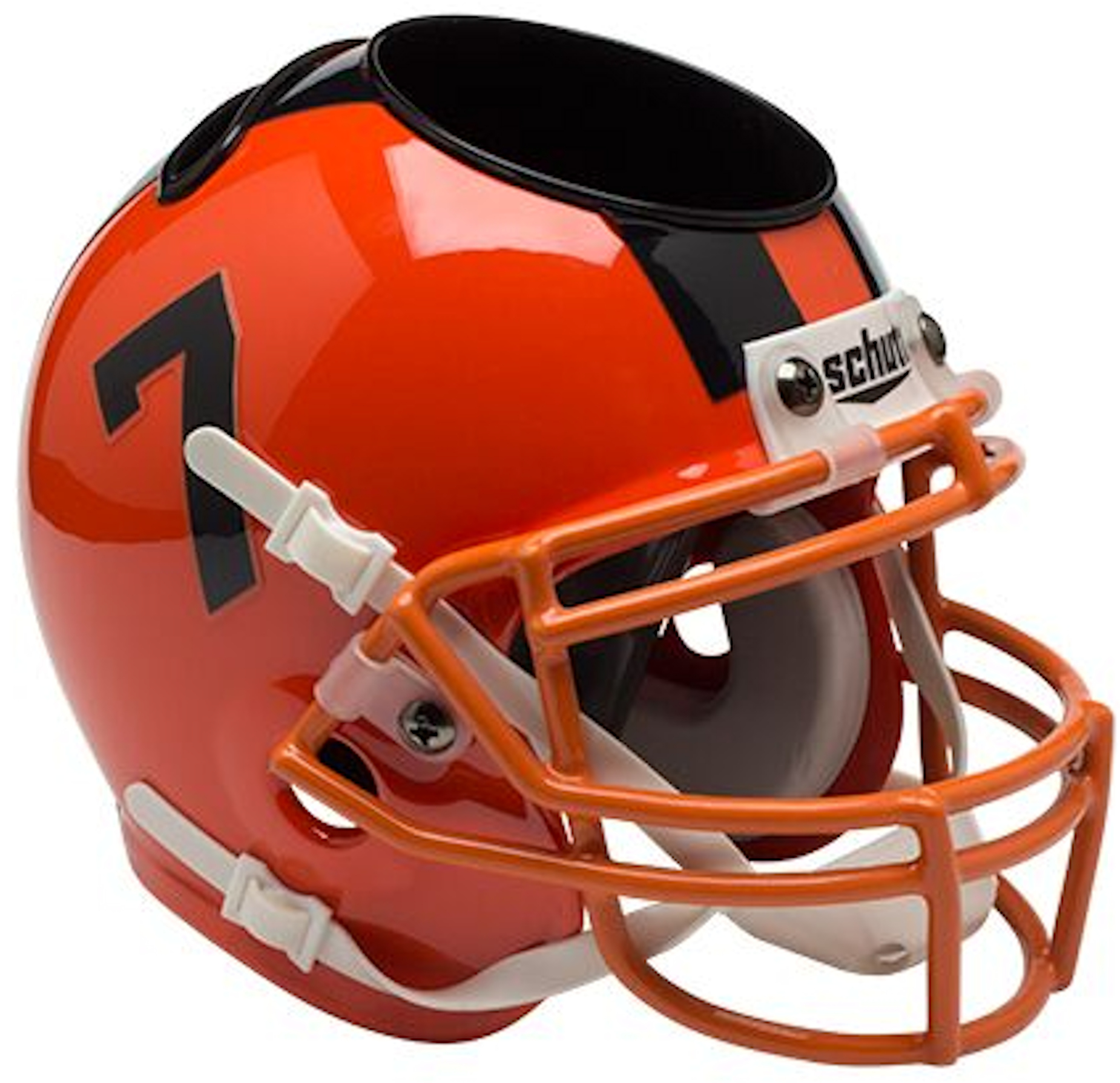 Oregon State Beavers Miniature Football Helmet Desk Caddy <B>Orange</B>