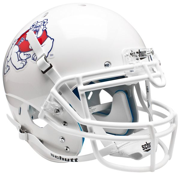 Fresno State Bulldogs Authentic College XP Football Helmet Schutt <B>White</B>