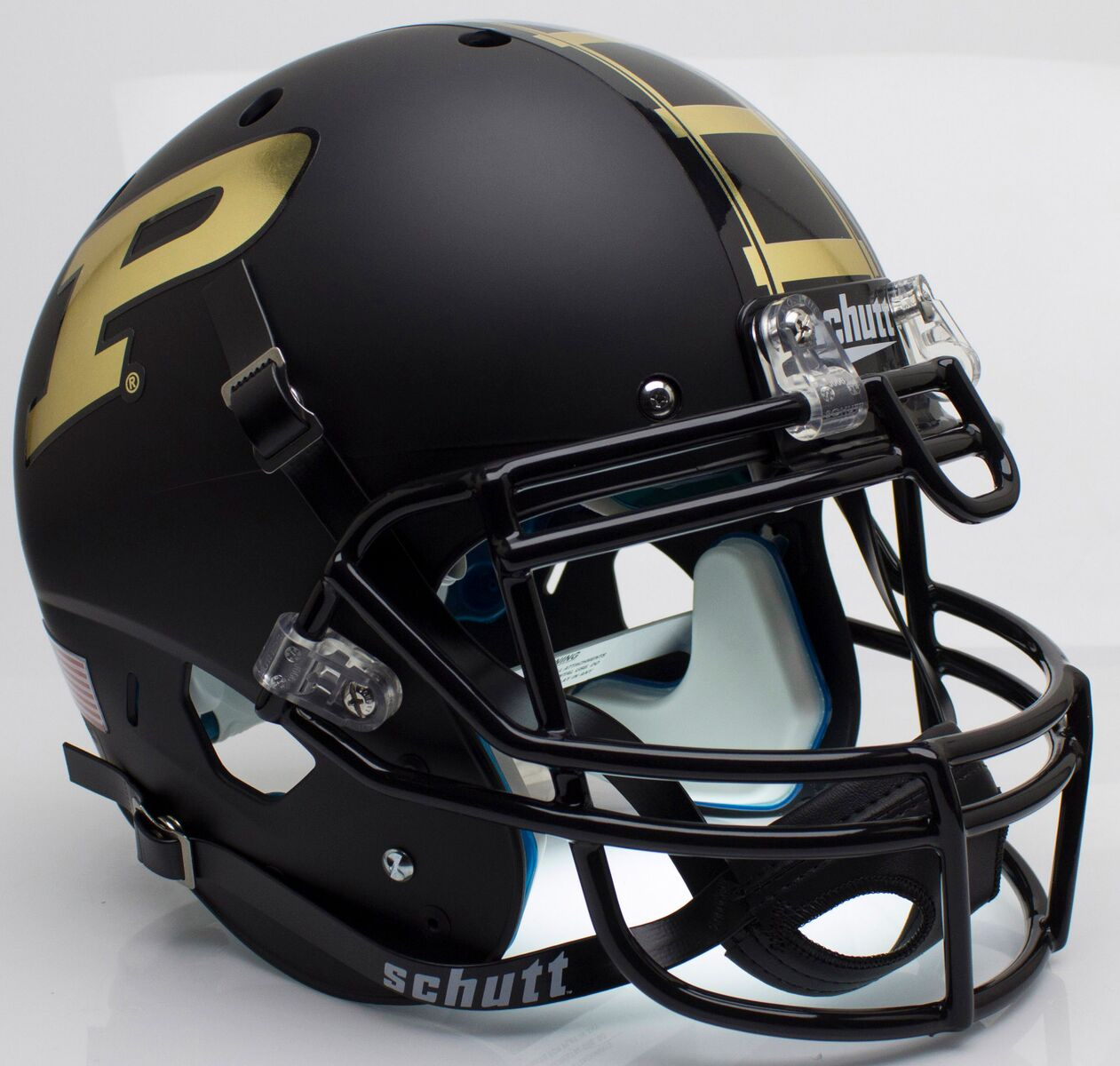 Purdue Boilermakers Authentic College XP Football Helmet Schutt <B>Matte Black</B>