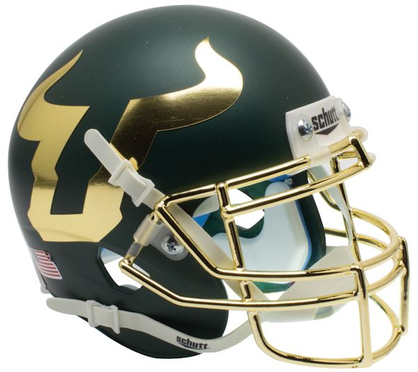 South Florida Bulls Authentic College XP Football Helmet Schutt <B>Chrome Mask</B>