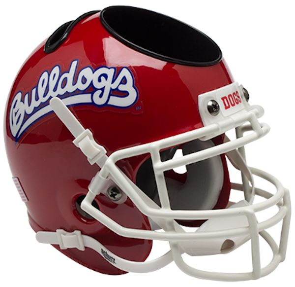 Fresno State Bulldogs Mini Football Helmet Desk Caddy <B>Scarlet</B>