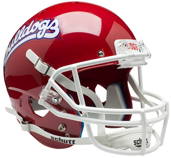 Fresno State Bulldogs Full XP Replica Football Helmet Schutt <B>Scarlet</B>