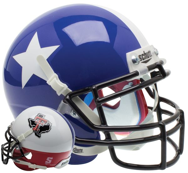 Texas Tech Red Raiders Authentic College XP Football Helmet Schutt <B>Star and State</B>