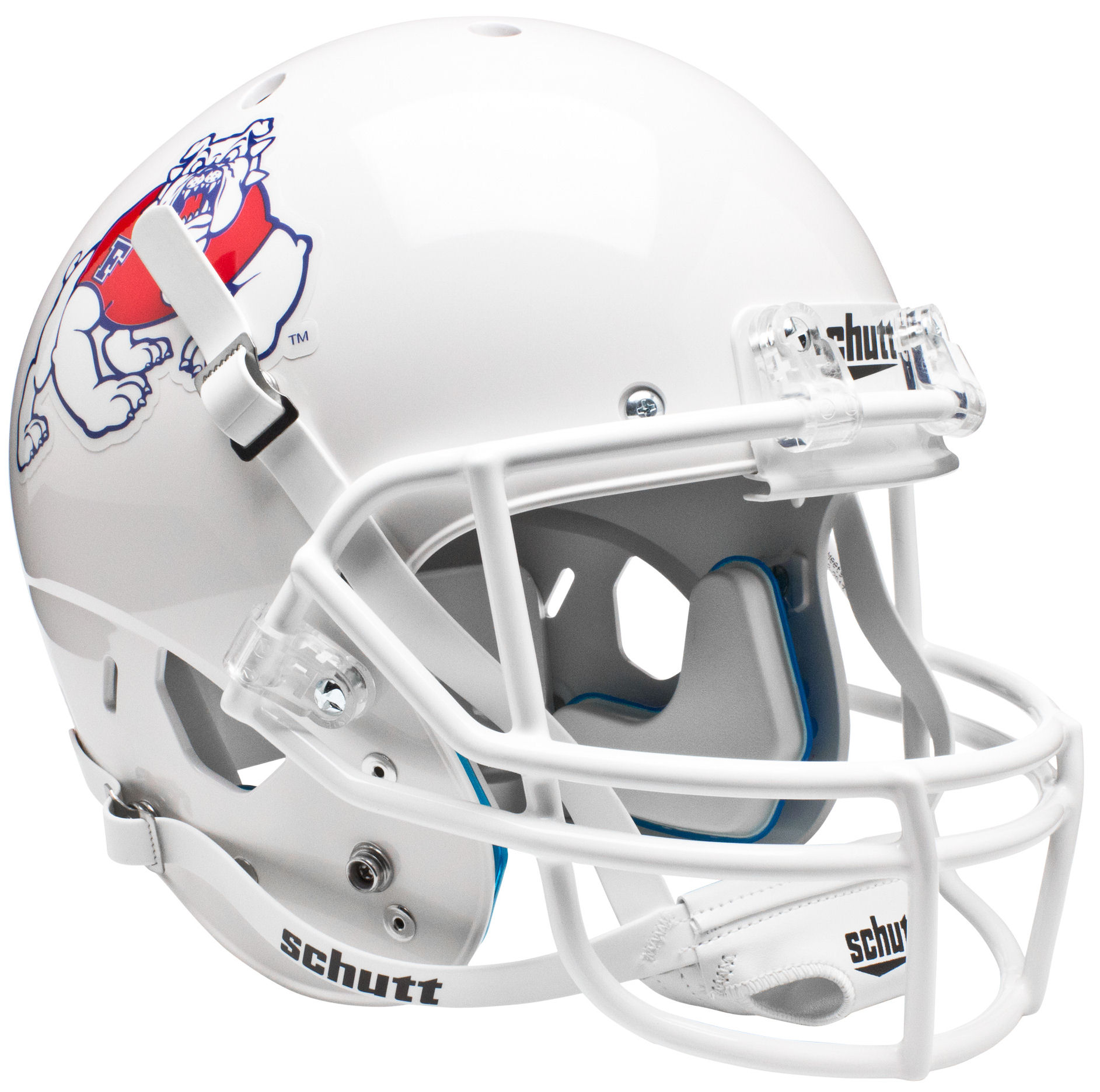 Fresno State Bulldogs Mini XP Authentic Helmet Schutt <B>White</B>