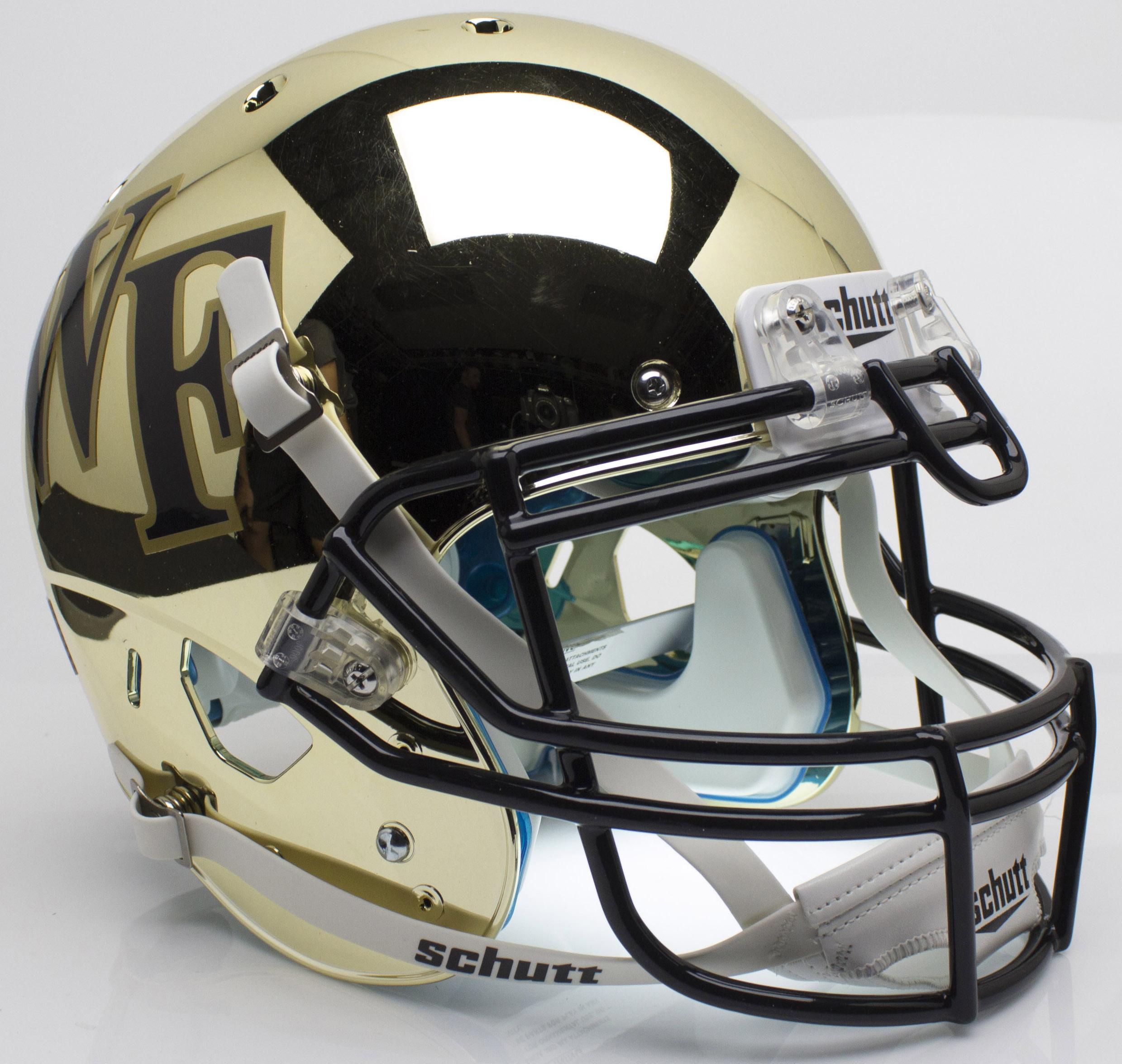 Wake Forest Demon Deacons Authentic College XP Football Helmet Schutt <B>Chrome</B>