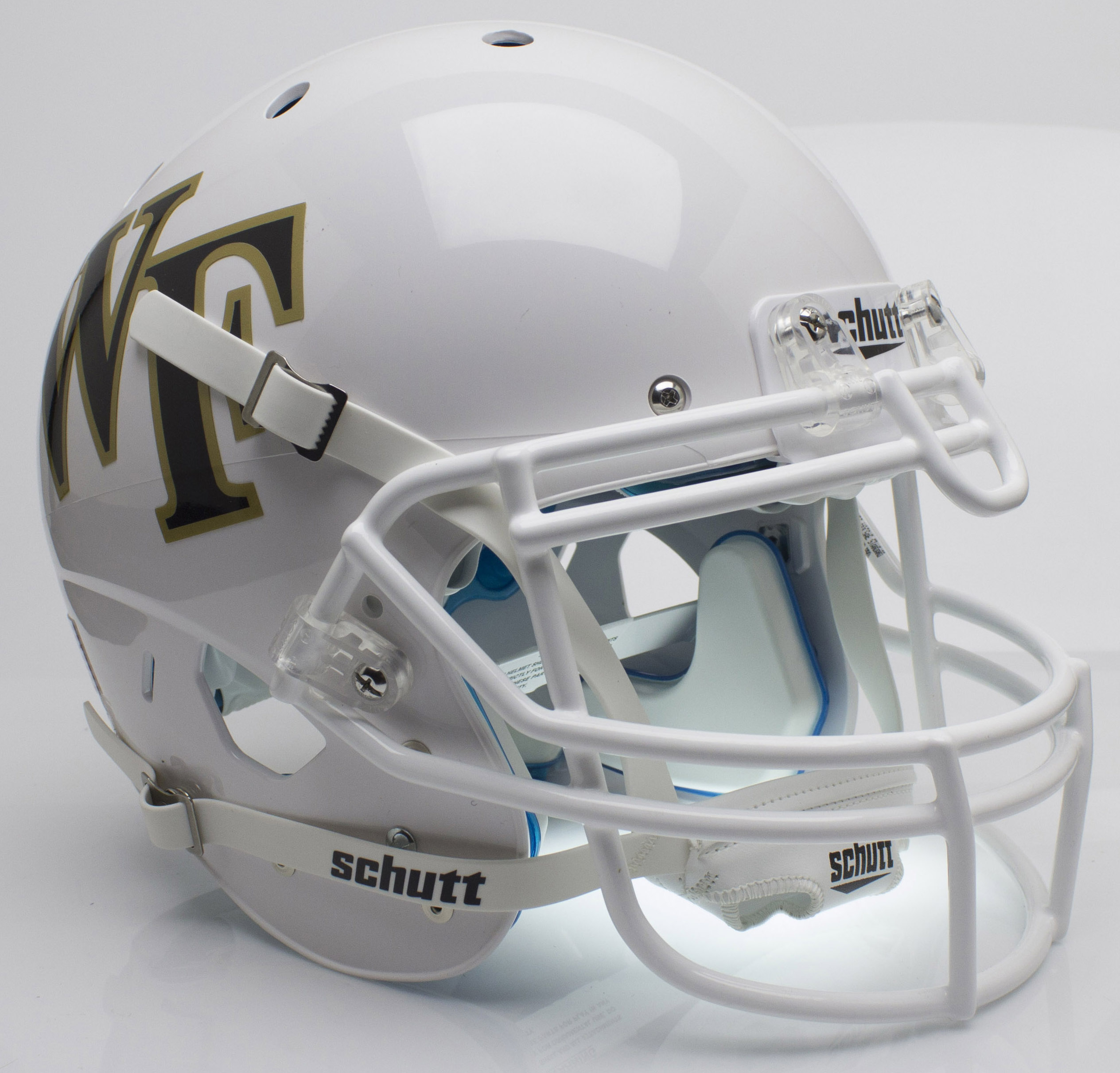 Wake Forest Demon Deacons Authentic College XP Football Helmet Schutt <B>White</B>