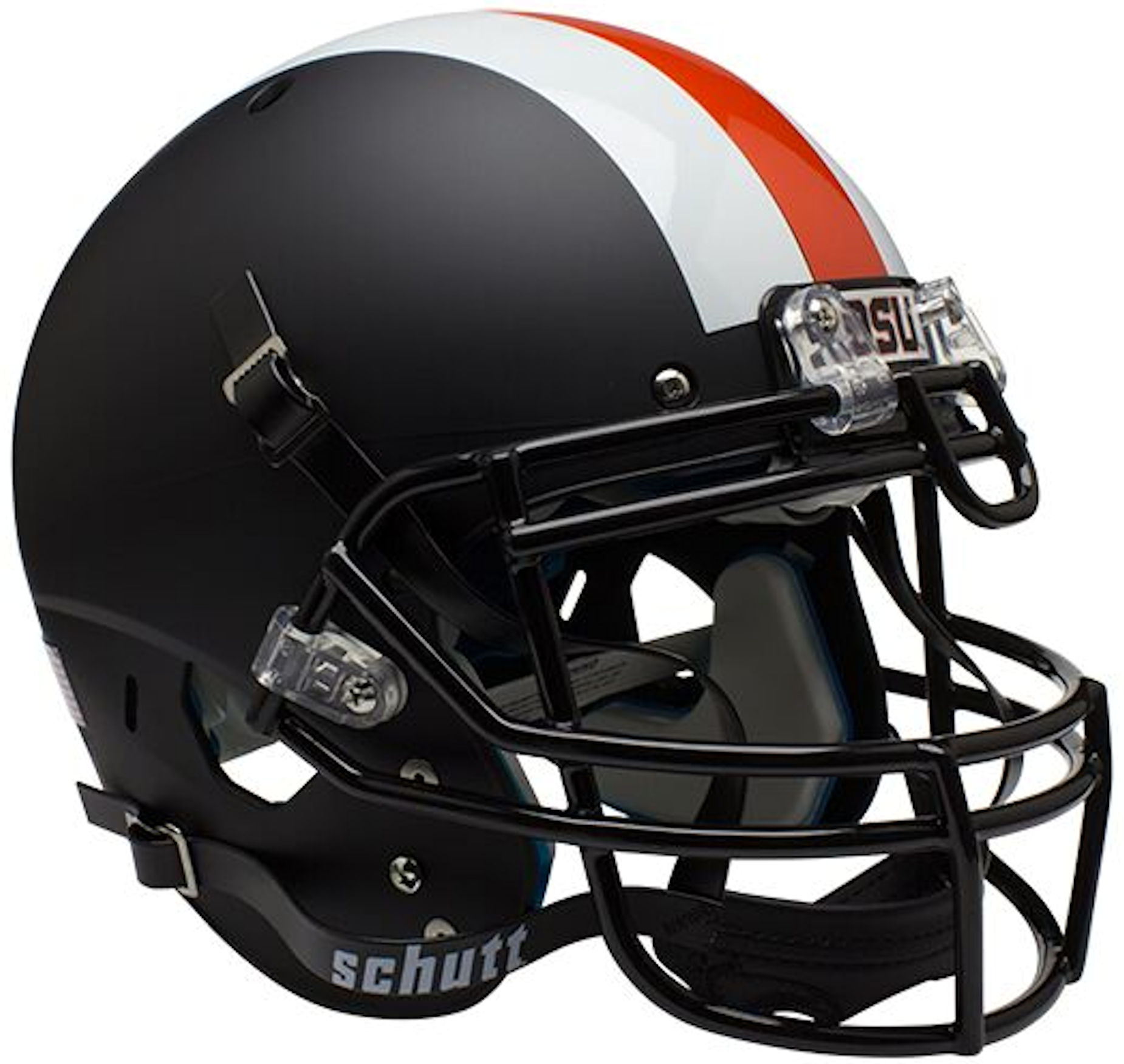 Oregon State Beavers Authentic College XP Football Helmet Schutt <B>Black w/stripes</B>