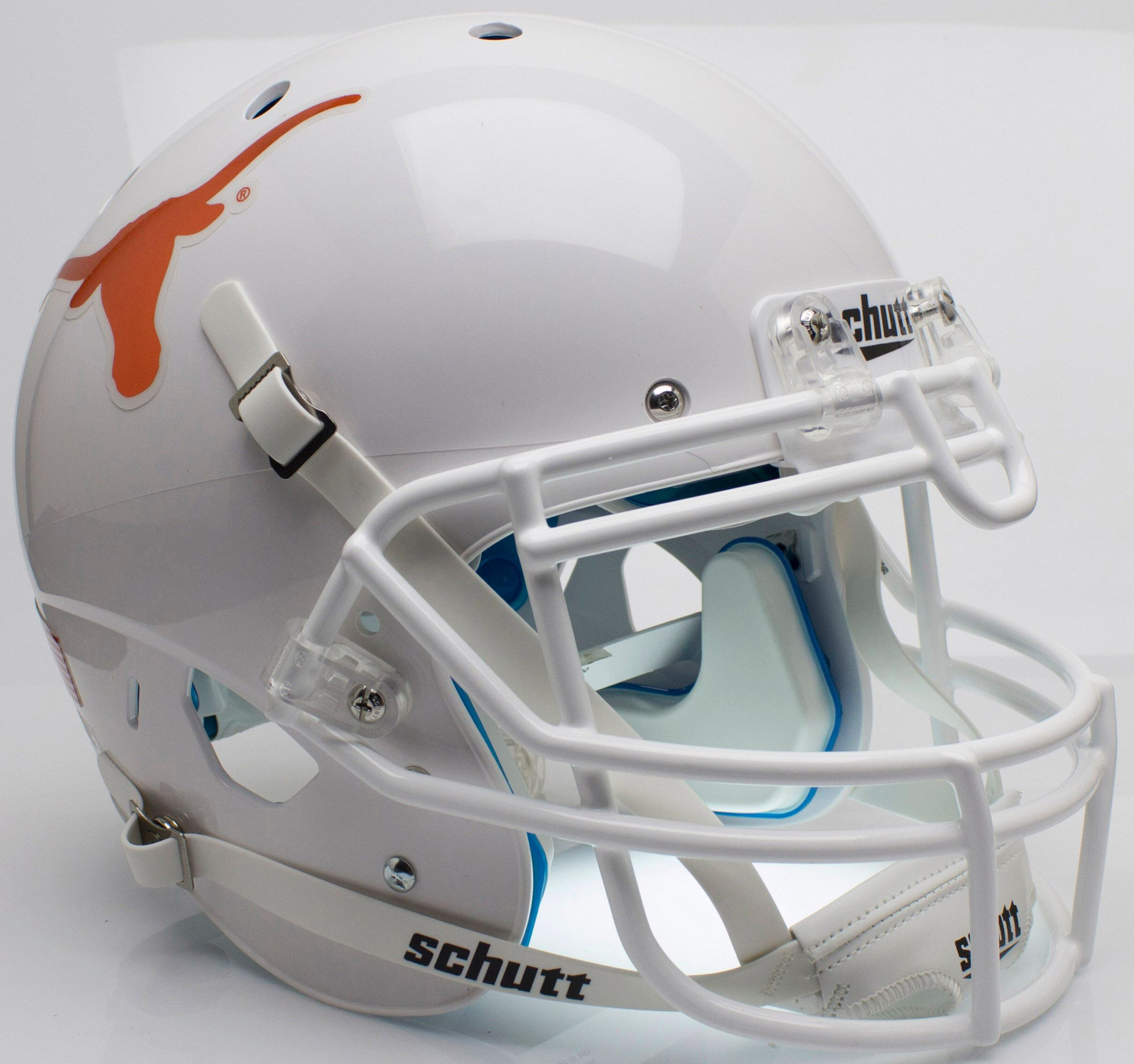 Texas Longhorns Authentic College XP Football Helmet Schutt <B>Chrome Decal</B>