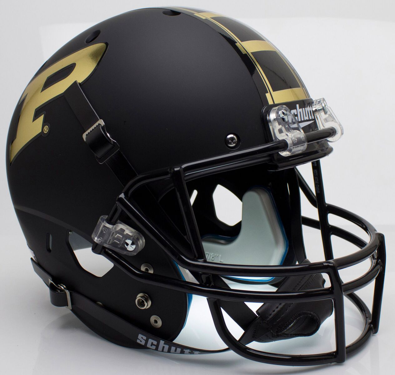 Purdue Boilermakers Full XP Replica Football Helmet Schutt <B>Matte Black</B>