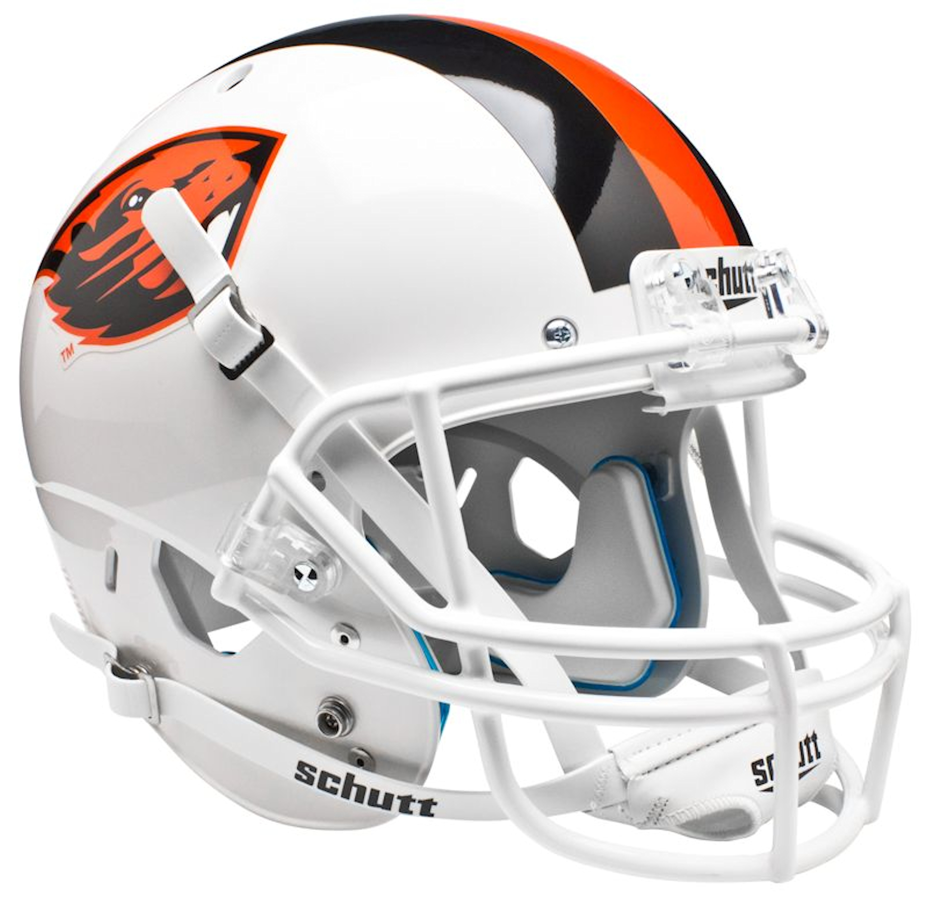 Oregon State Beavers Full XP Replica Football Helmet Schutt <B>White</B>