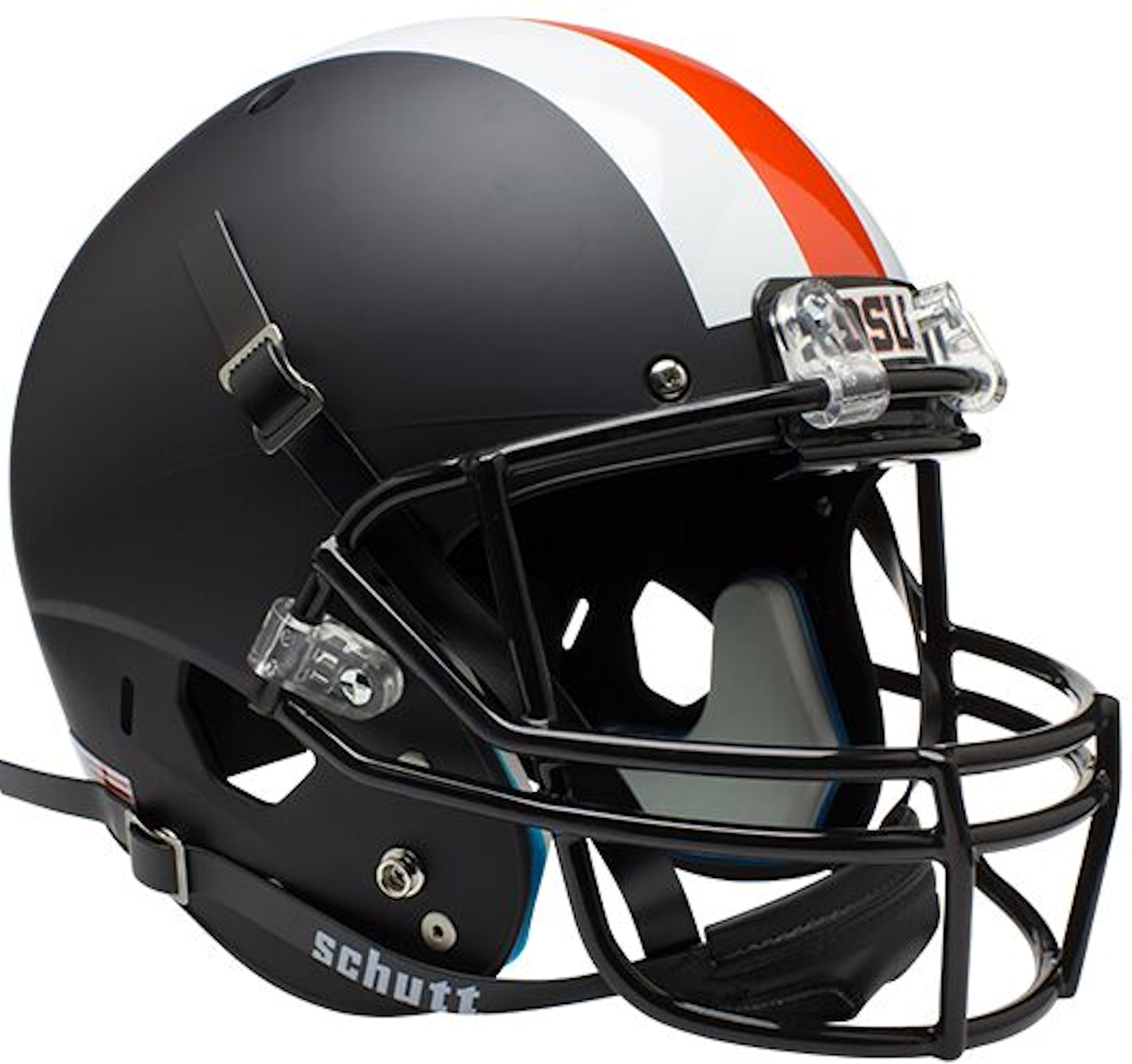 Oregon State Beavers Full XP Replica Football Helmet Schutt <B>Black w/stripes</B>