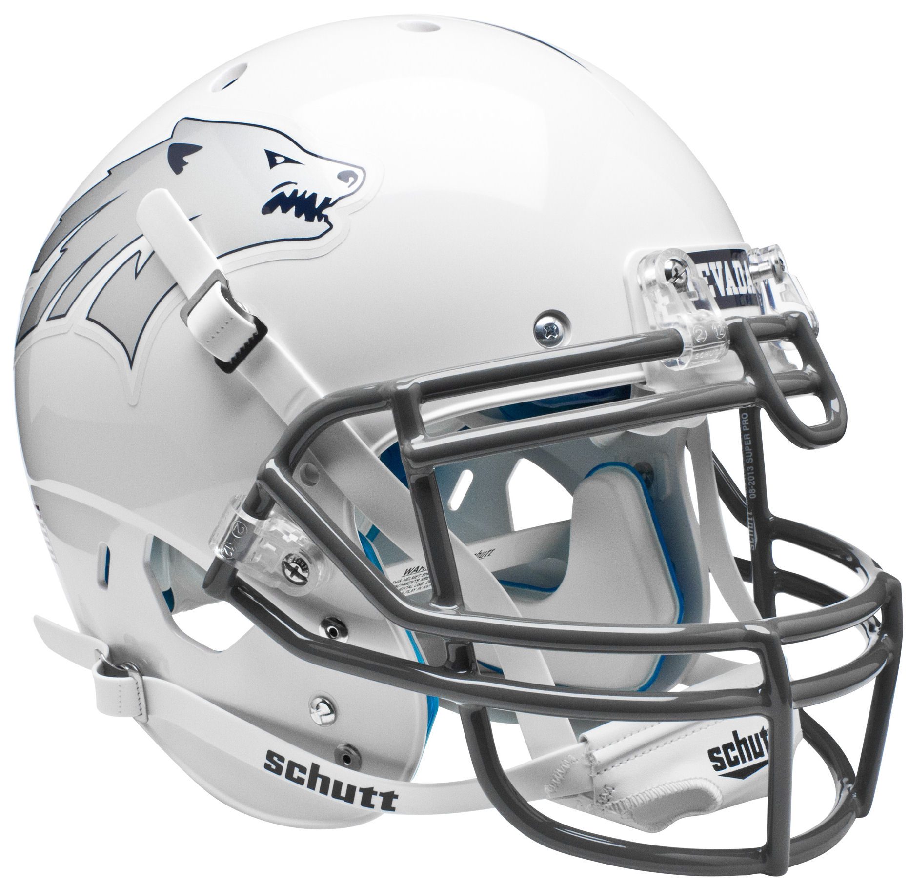 Nevada Wolfpack Authentic College XP Football Helmet Schutt <B>White</B>