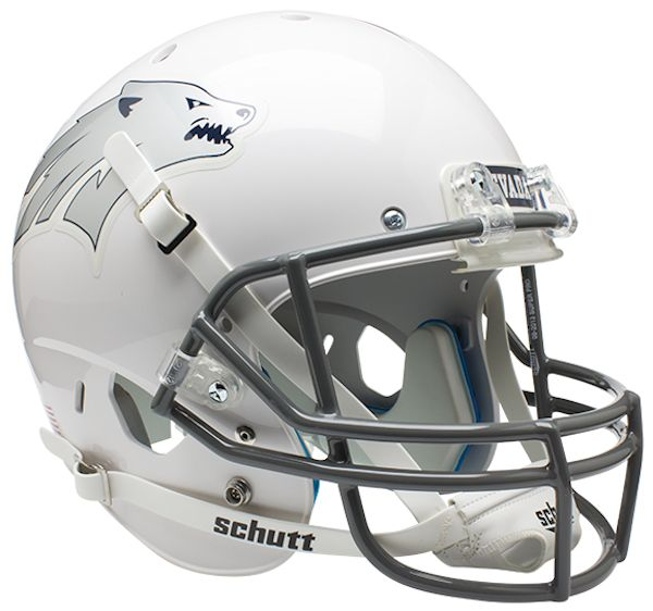 Nevada Wolfpack Full XP Replica Football Helmet Schutt <B>White</B>