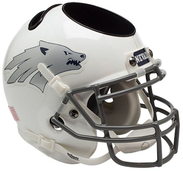 Nevada Wolfpack Miniature Football Helmet Desk Caddy <B>White</B>