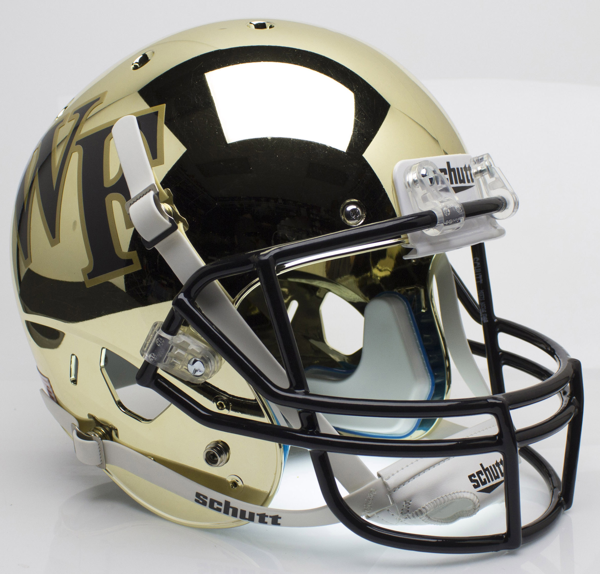 Wake Forest Demon Deacons Full XP Replica Football Helmet Schutt <B>Chrome</B>
