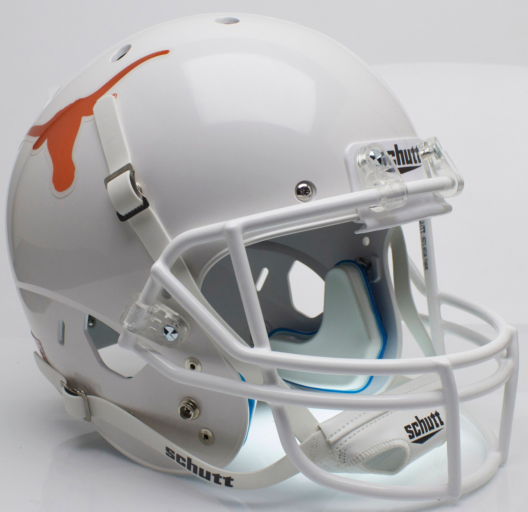 Texas Longhorns Full XP Replica Football Helmet Schutt <B>Chrome Decal</B>