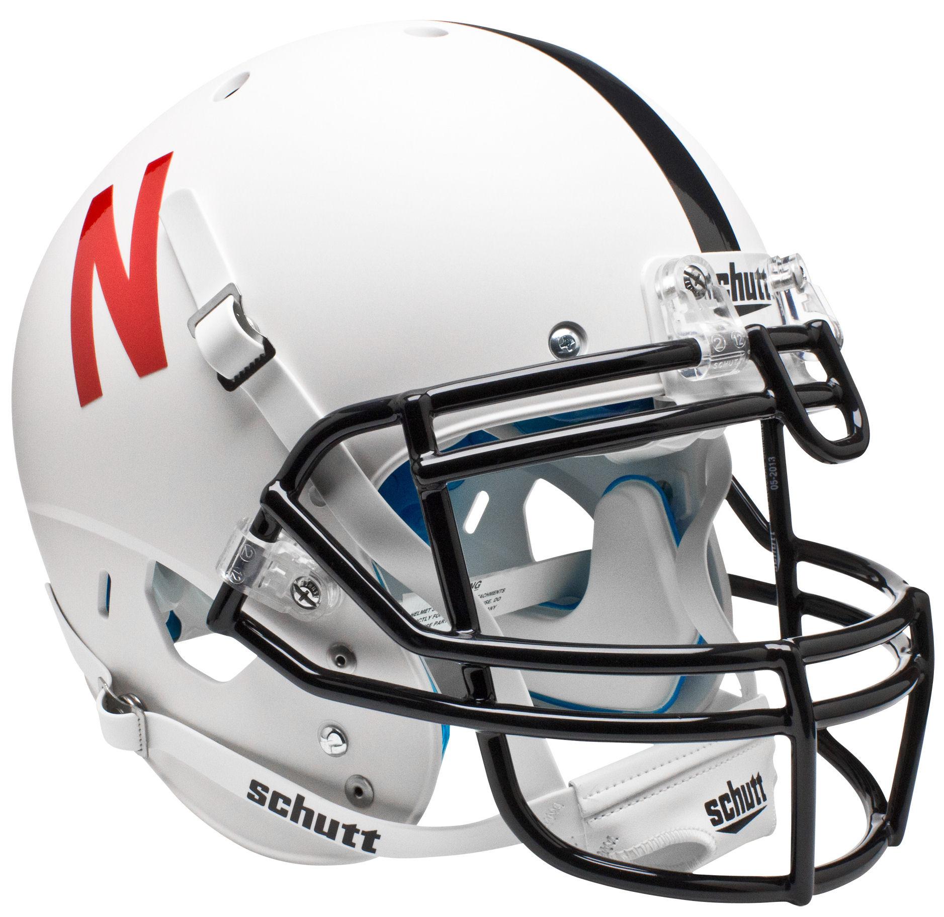 Nebraska Cornhuskers Authentic College XP Football Helmet Schutt <B>White</B>