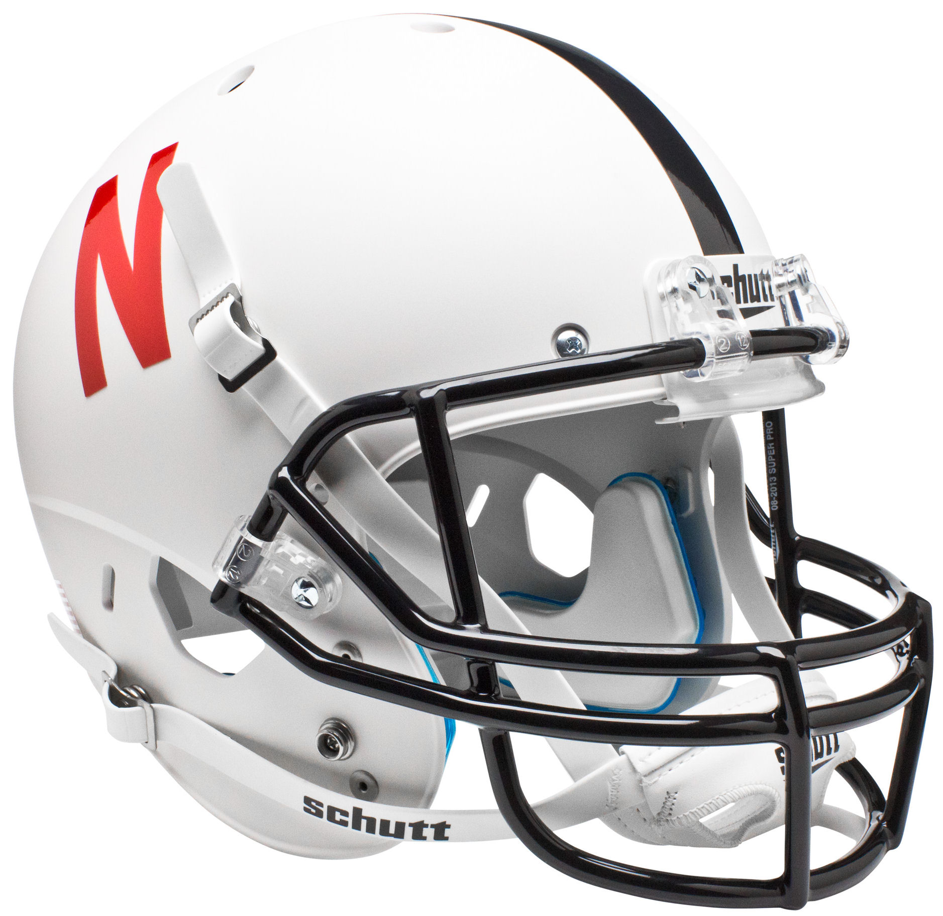Nebraska Cornhuskers Full XP Replica Football Helmet Schutt <B>White</B>
