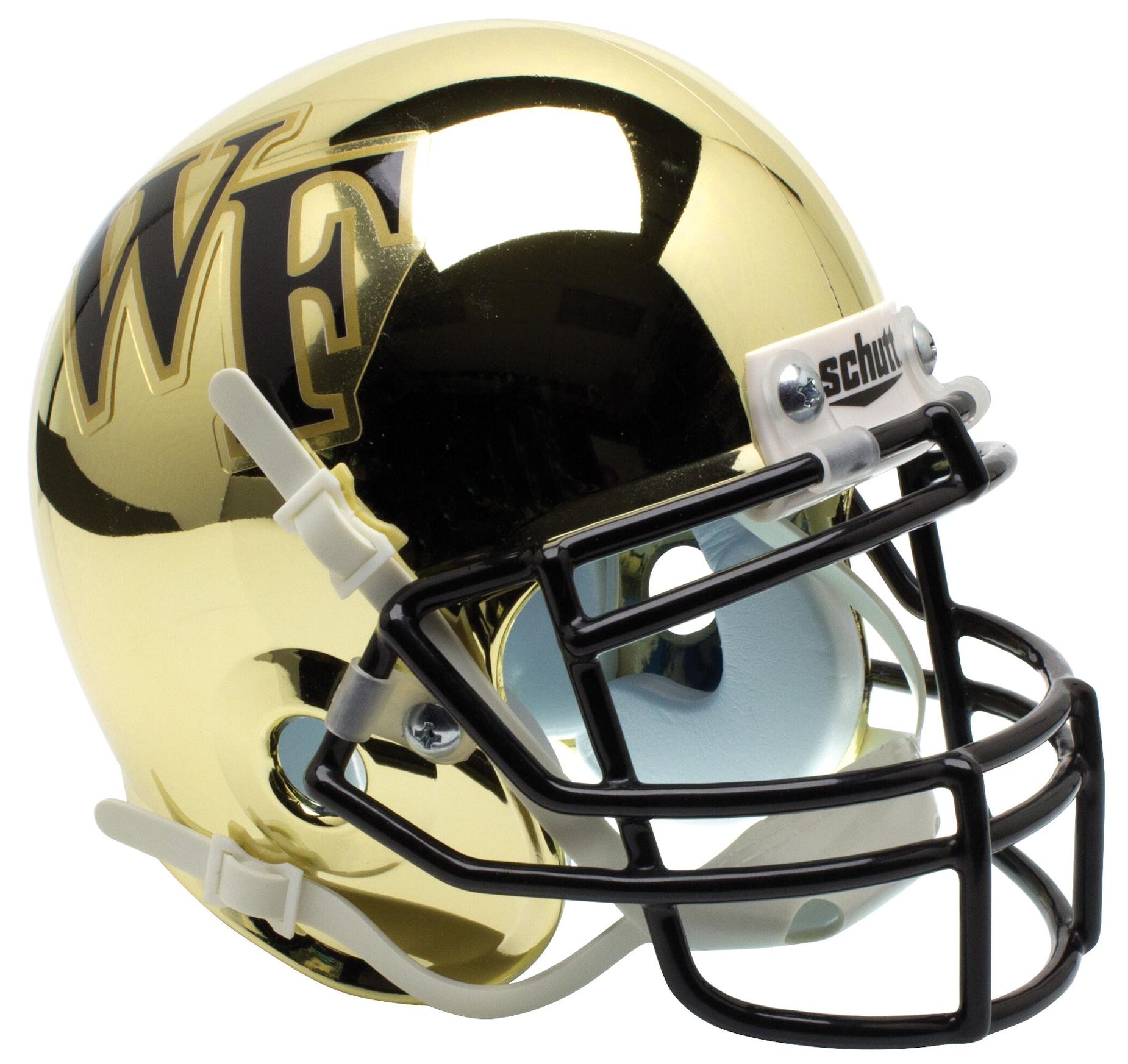 Wake Forest Demon Deacons Mini XP Authentic Helmet Schutt <B>Chrome</B>