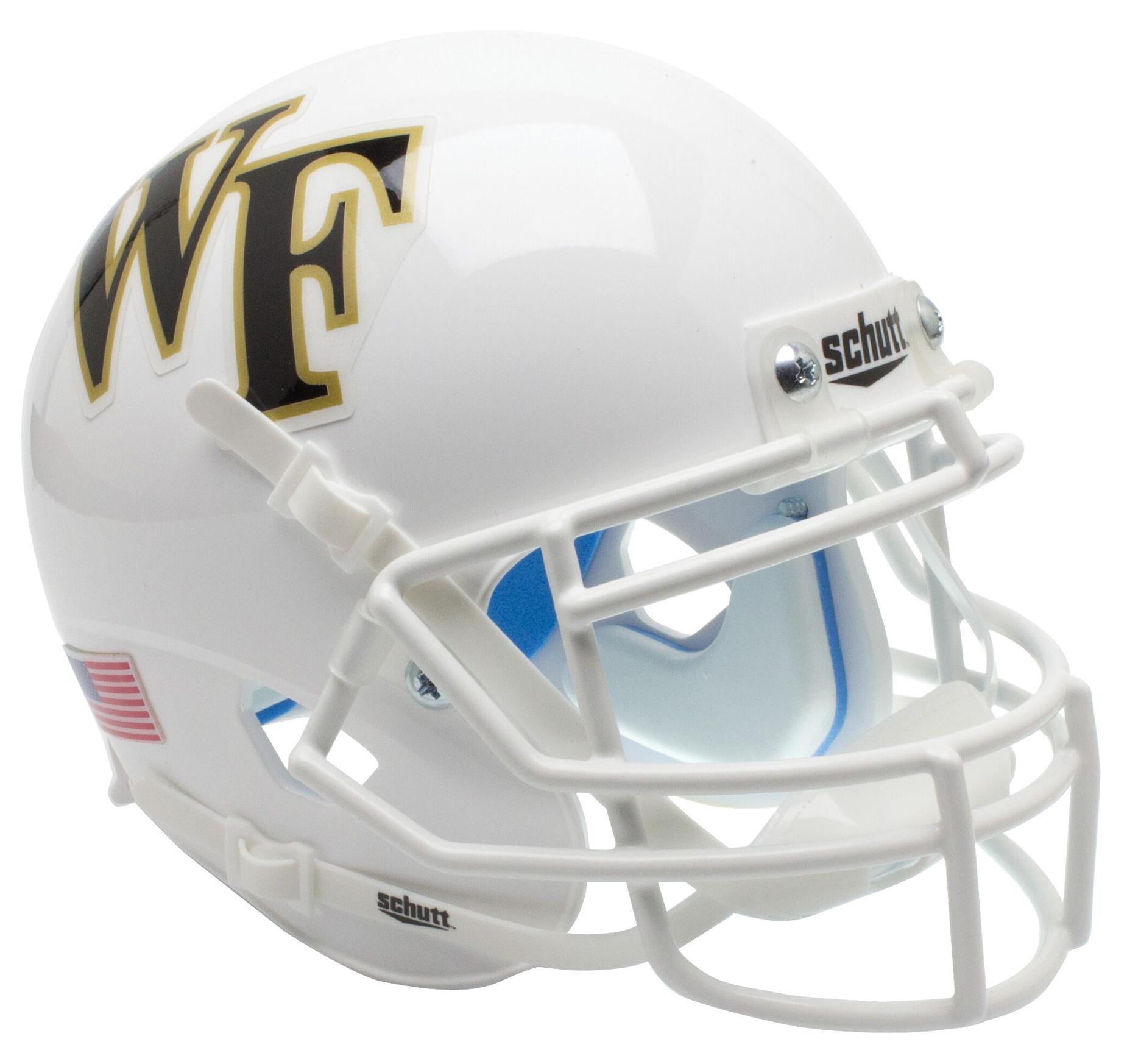 Wake Forest Demon Deacons Mini XP Authentic Helmet Schutt <B>White</B>