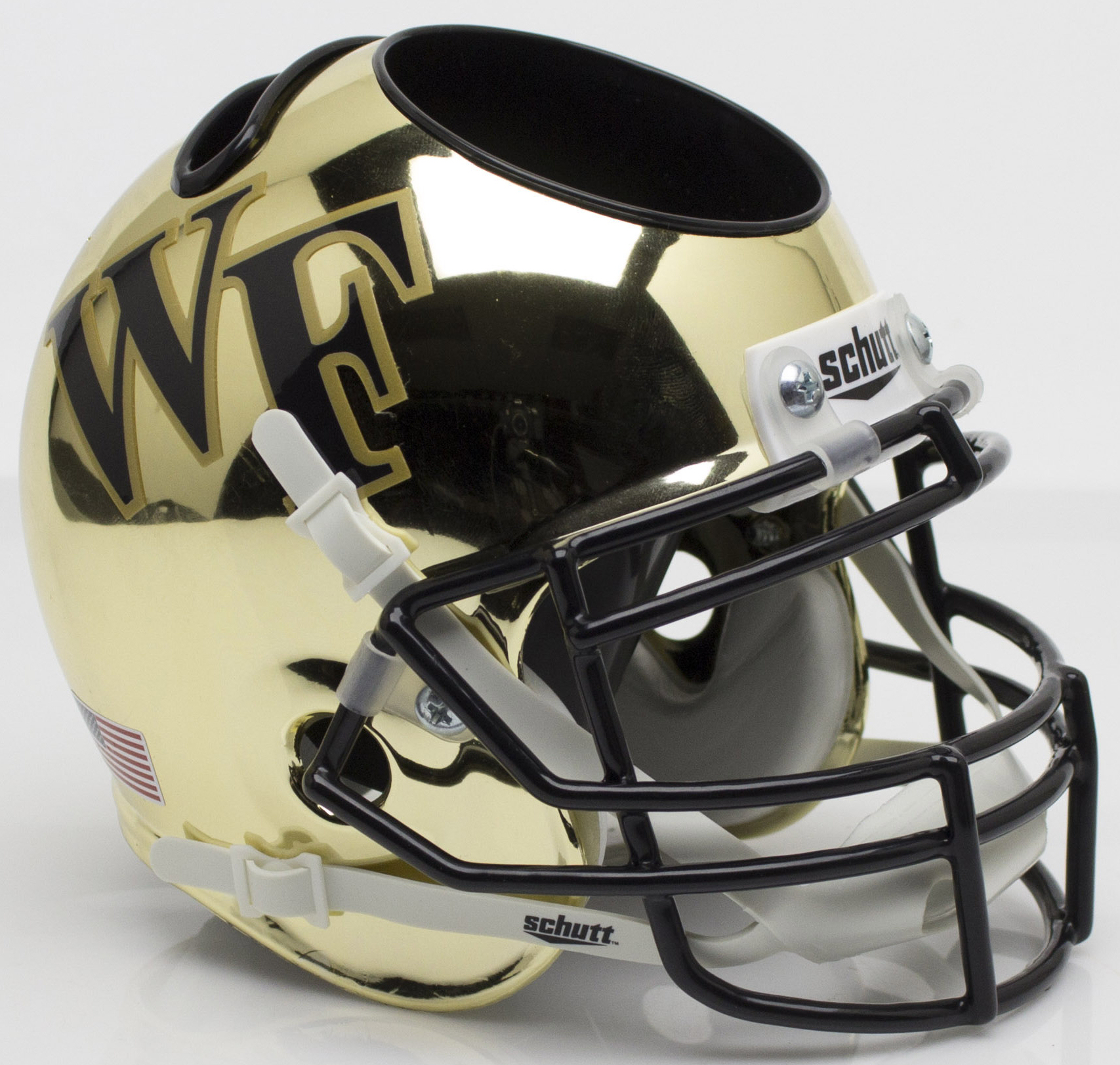 Wake Forest Demon Deacons Miniature Football Helmet Desk Caddy <B>Chrome</B>