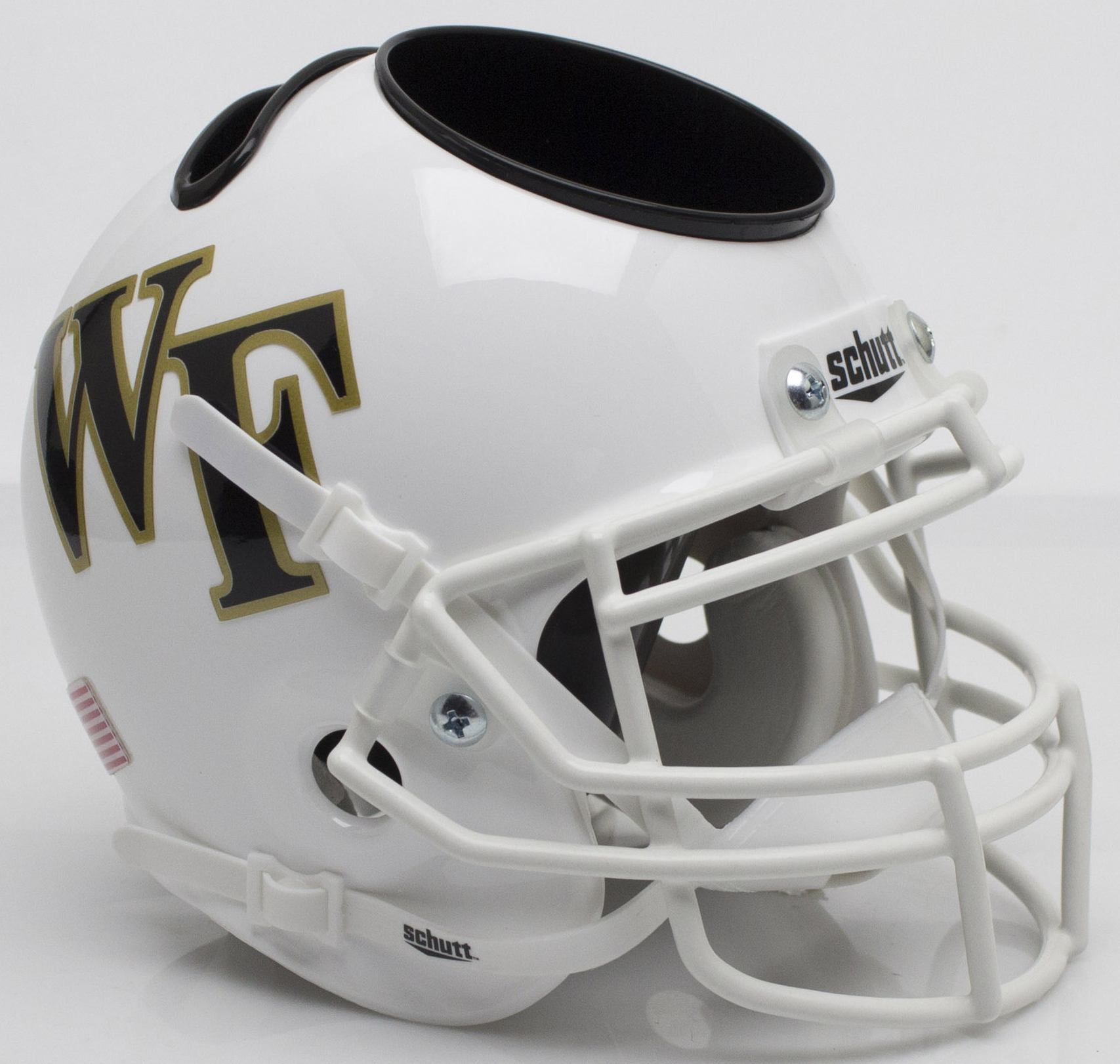 Wake Forest Demon Deacons Miniature Football Helmet Desk Caddy <B>White</B>