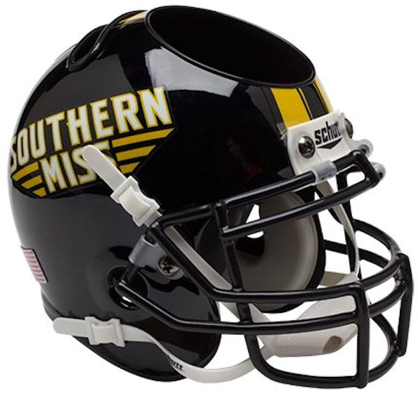Southern Mississippi Golden Eagles Miniature Football Helmet Desk Caddy