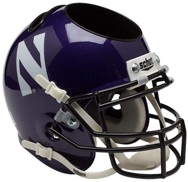 Northwestern Wildcats Miniature Football Helmet Desk Caddy